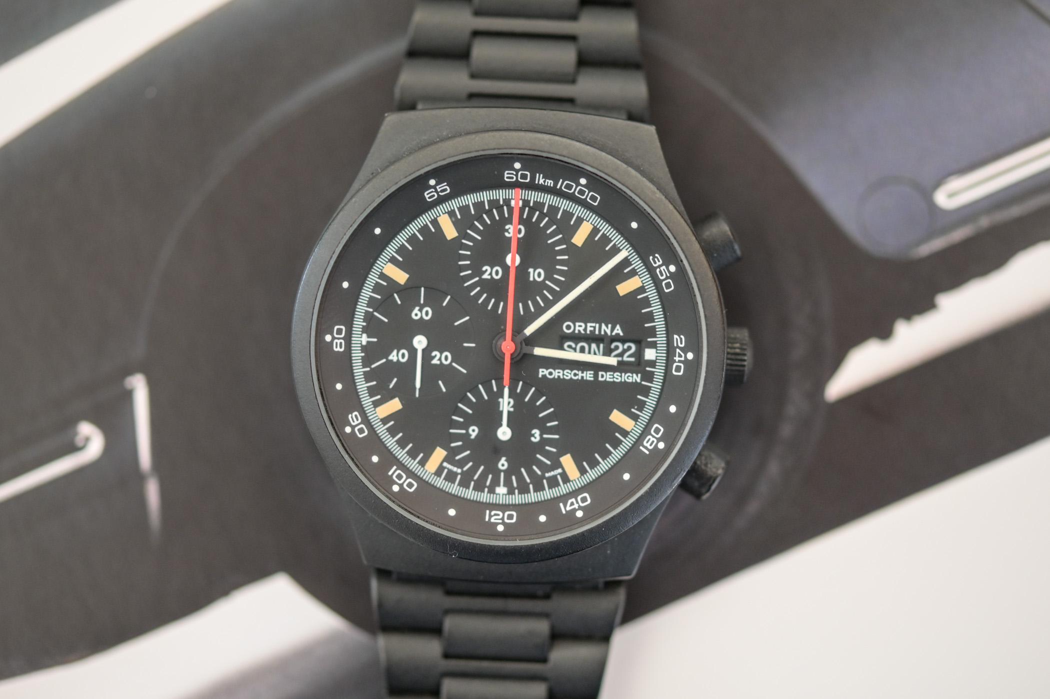 1972 Porsche Design Orfina Chronograph Black PVD - 1