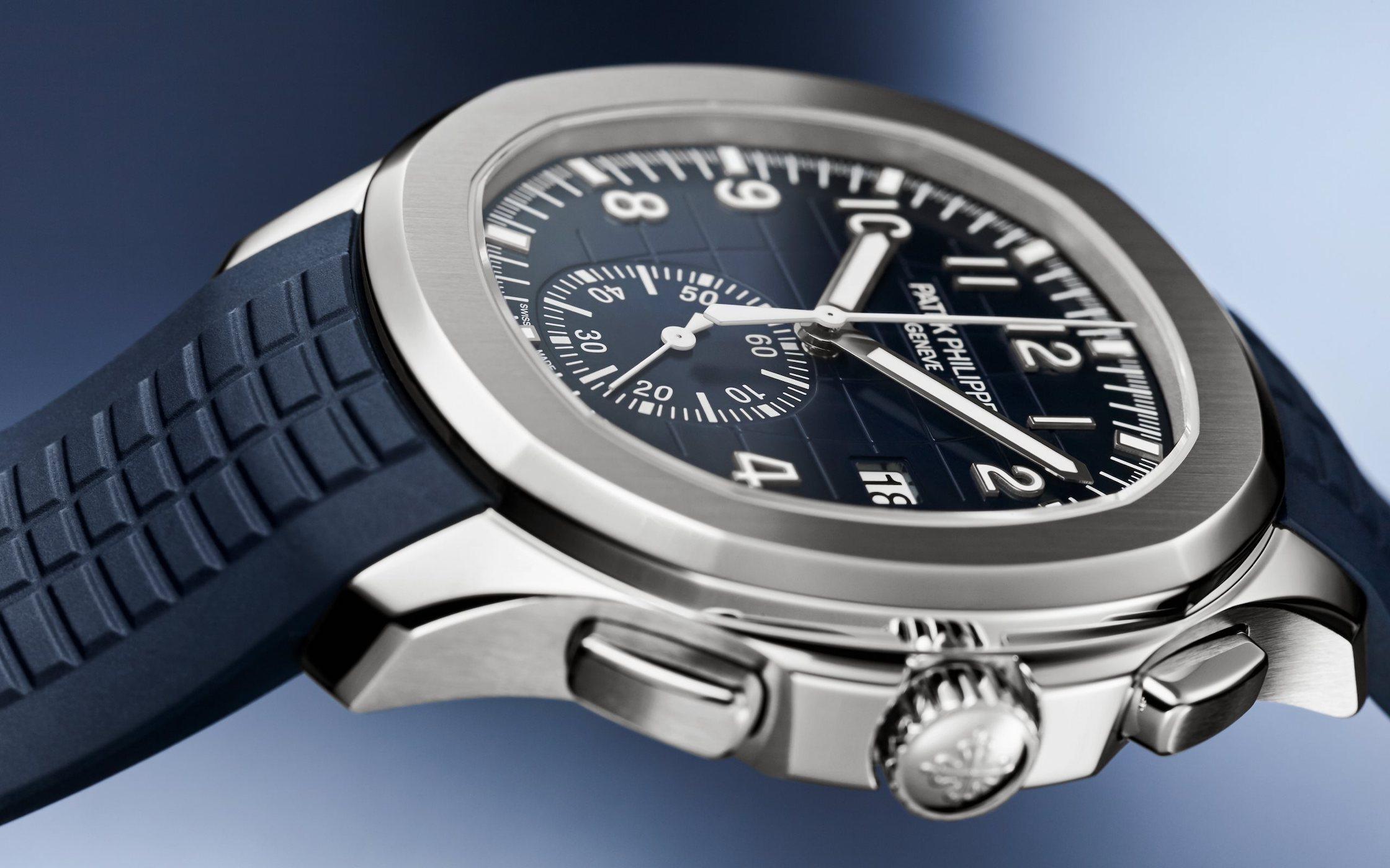 2021 Patek Philippe Aquanaut Chronograph 5968G-001 White gold blue dial