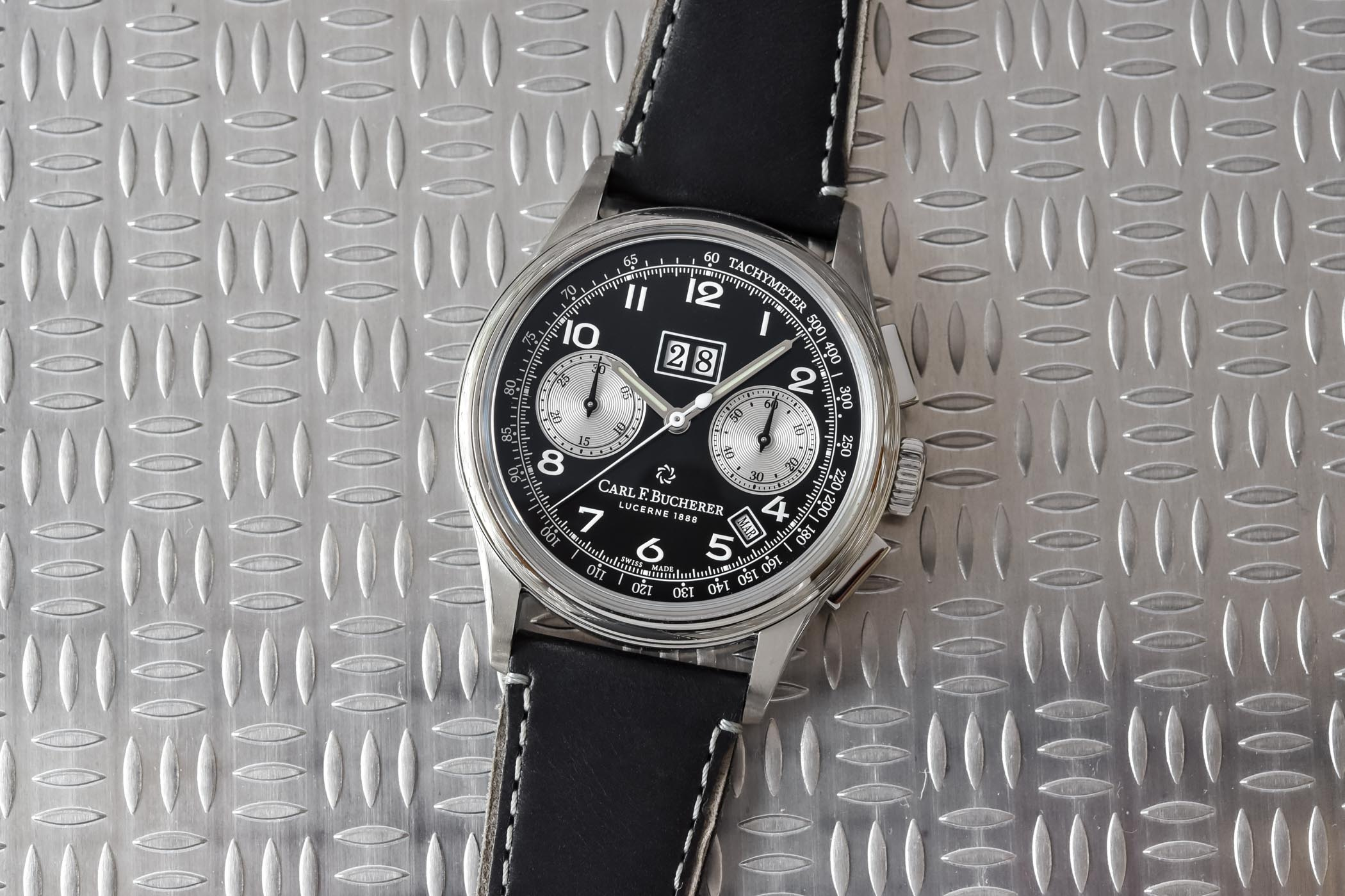 Carl F. Bucherer Heritage BiCompax Annual Orca Black