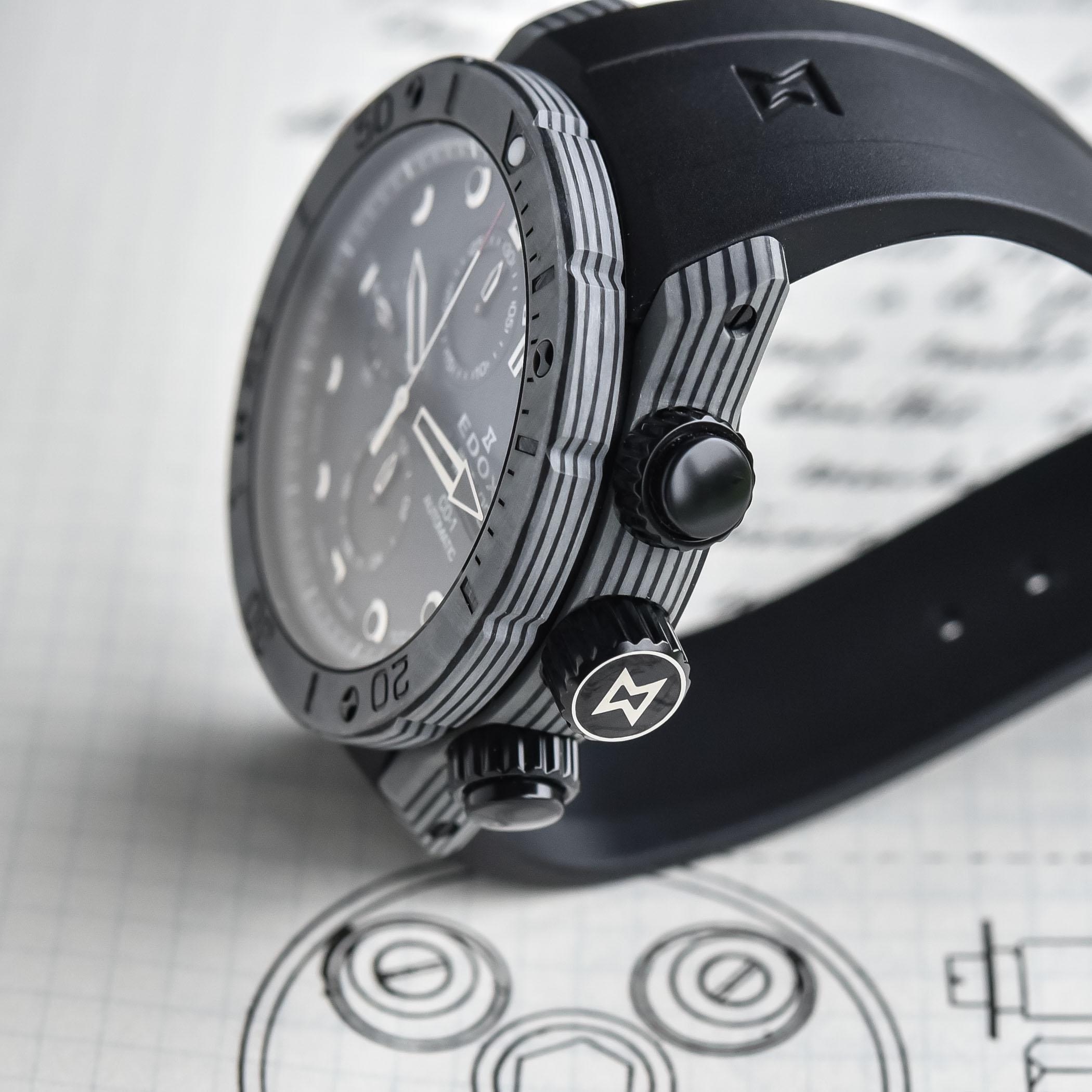 Edox CO-1 Carbon Chronograph Automatic