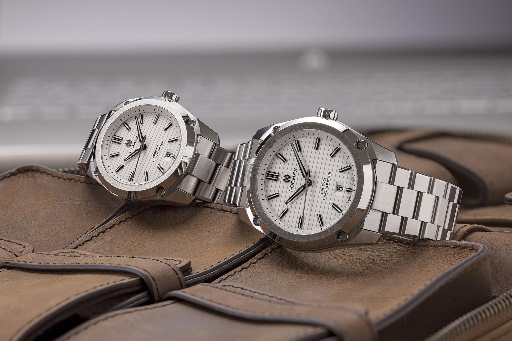 Formex Essence FortyThree Automatic Chronometer and ThirtyNine Automatic Chronometer white dials