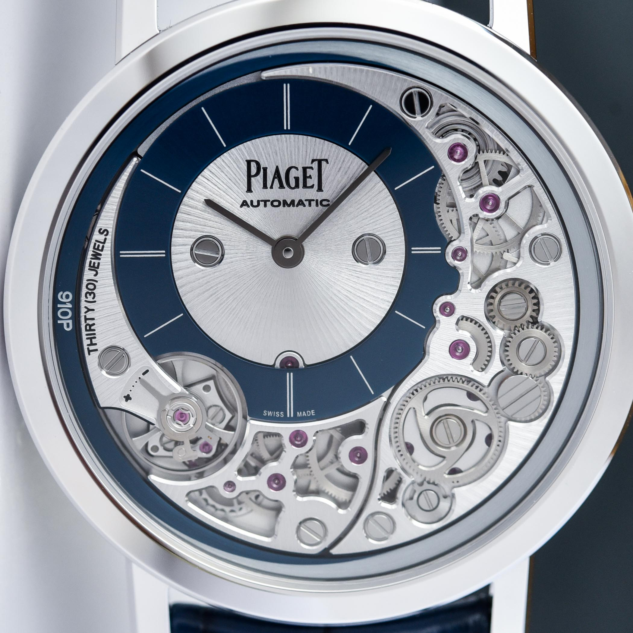 Piaget Altiplano Ultimate Automatic 910P White Gold Blue Dial G0A45123