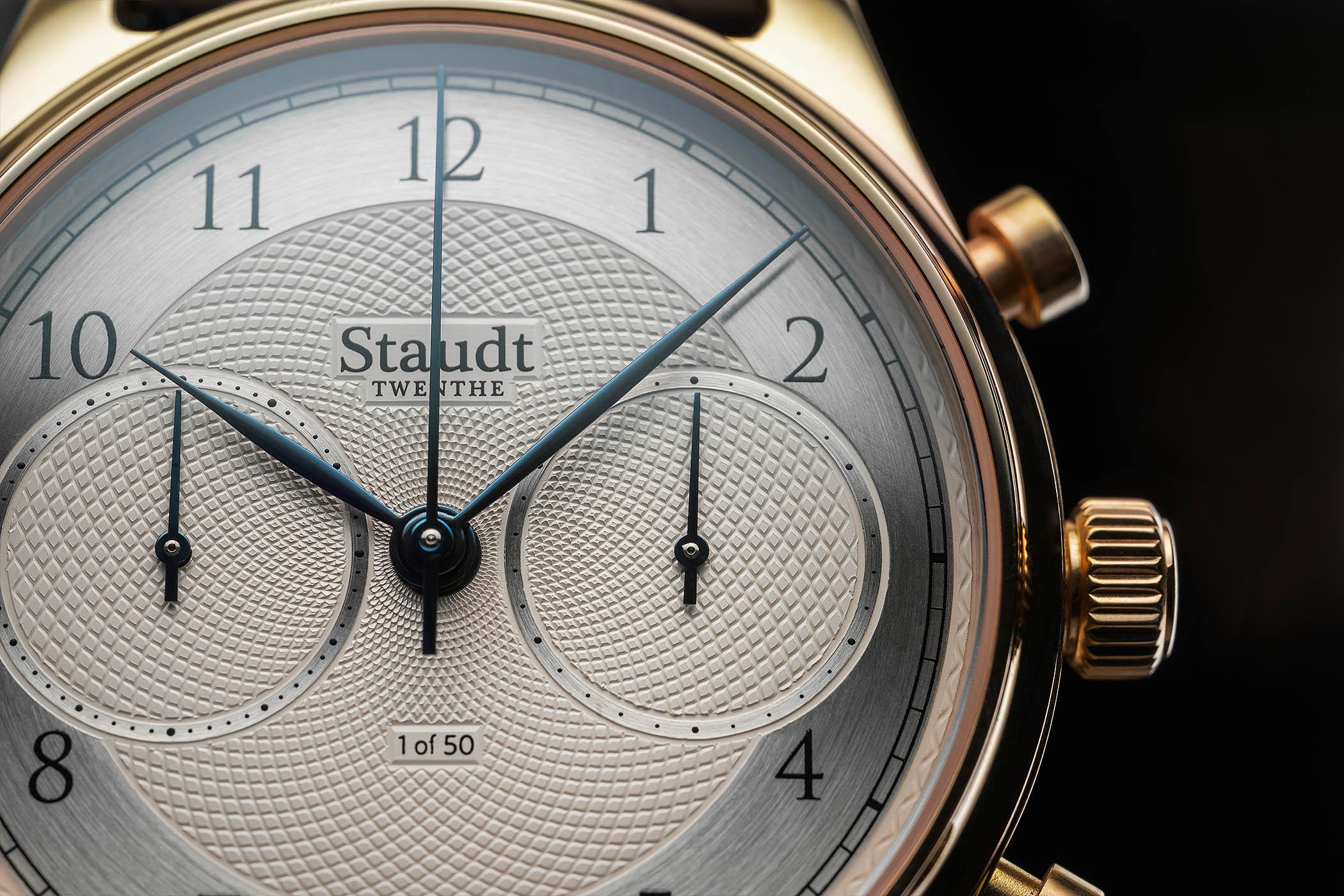 Staudt Guilloche Chronograph watch - 10