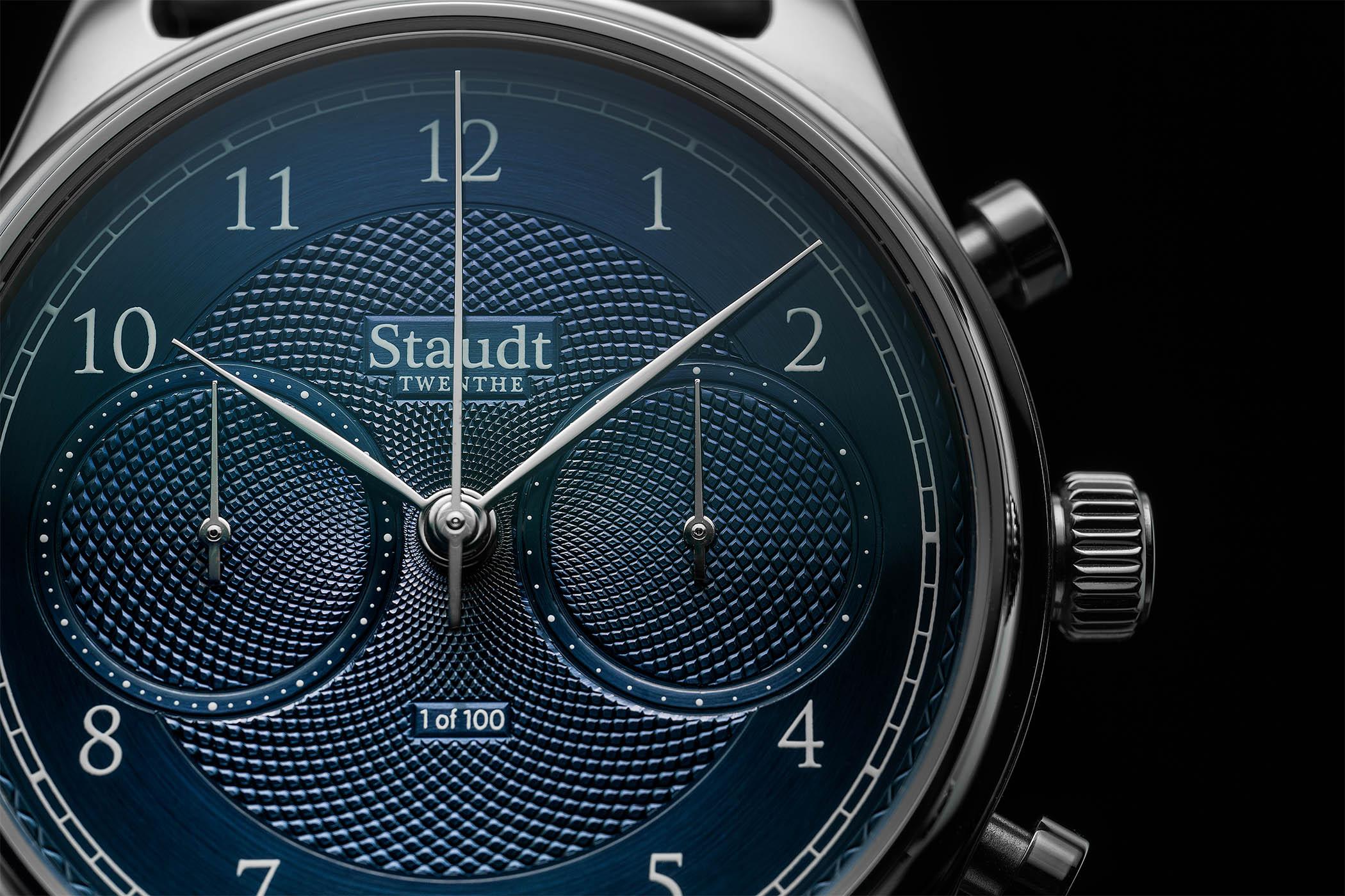 Staudt Guilloche Chronograph watch - 11