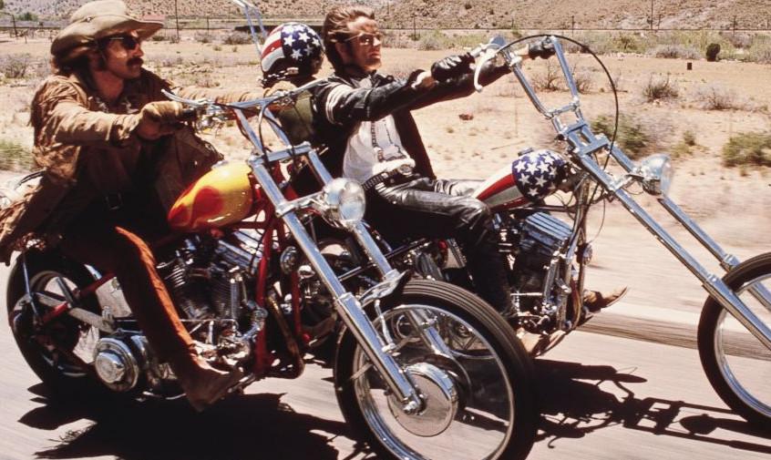 Peter Fonda and Dennis Hopper in Easy Rider, 1969