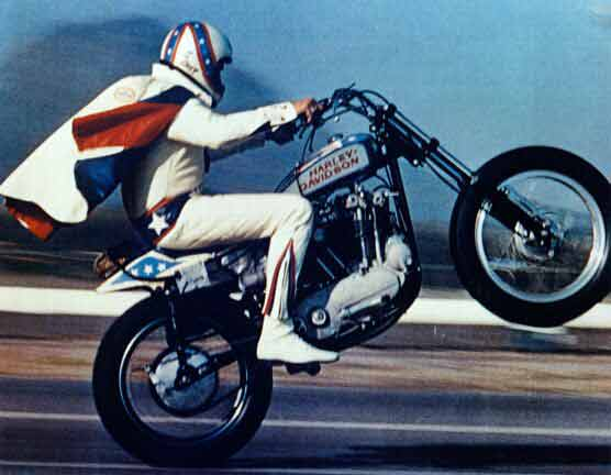 Evel Knievel on an early Harley XR750 - Source: Wired