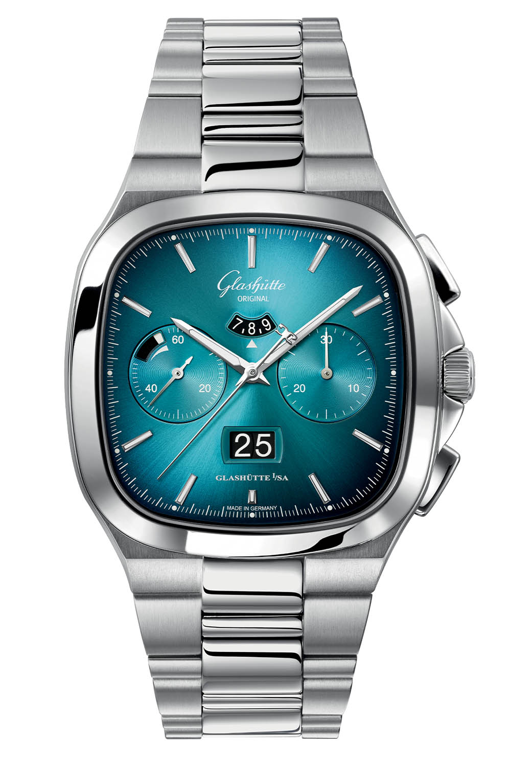 Glashutte Original Seventies Chronograph Panorama Date 2021 Limited Editions bright turquoise gradient - 4