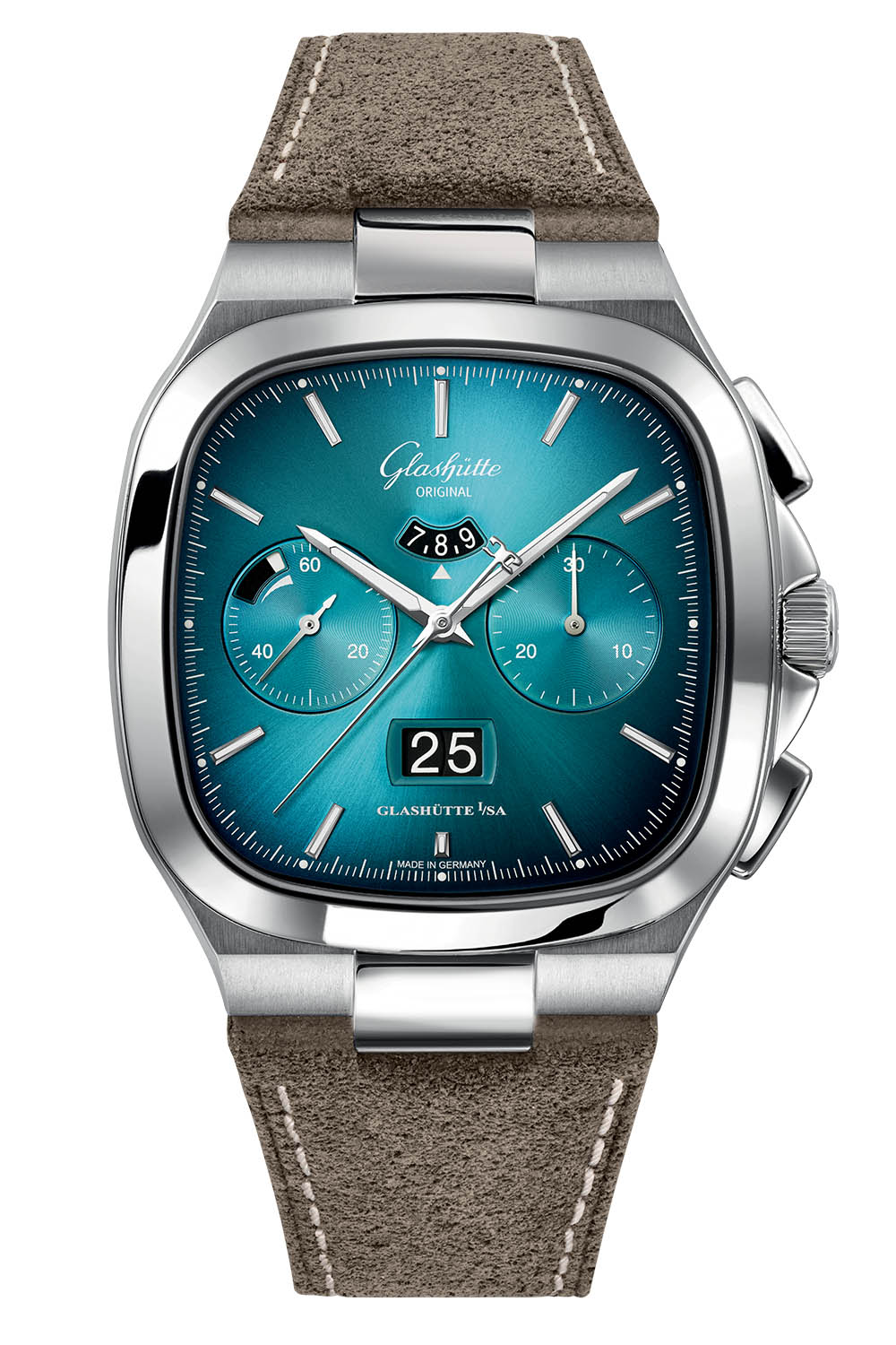 Glashutte Original Seventies Chronograph Panorama Date 2021 Limited Editions bright turquoise gradient - 5