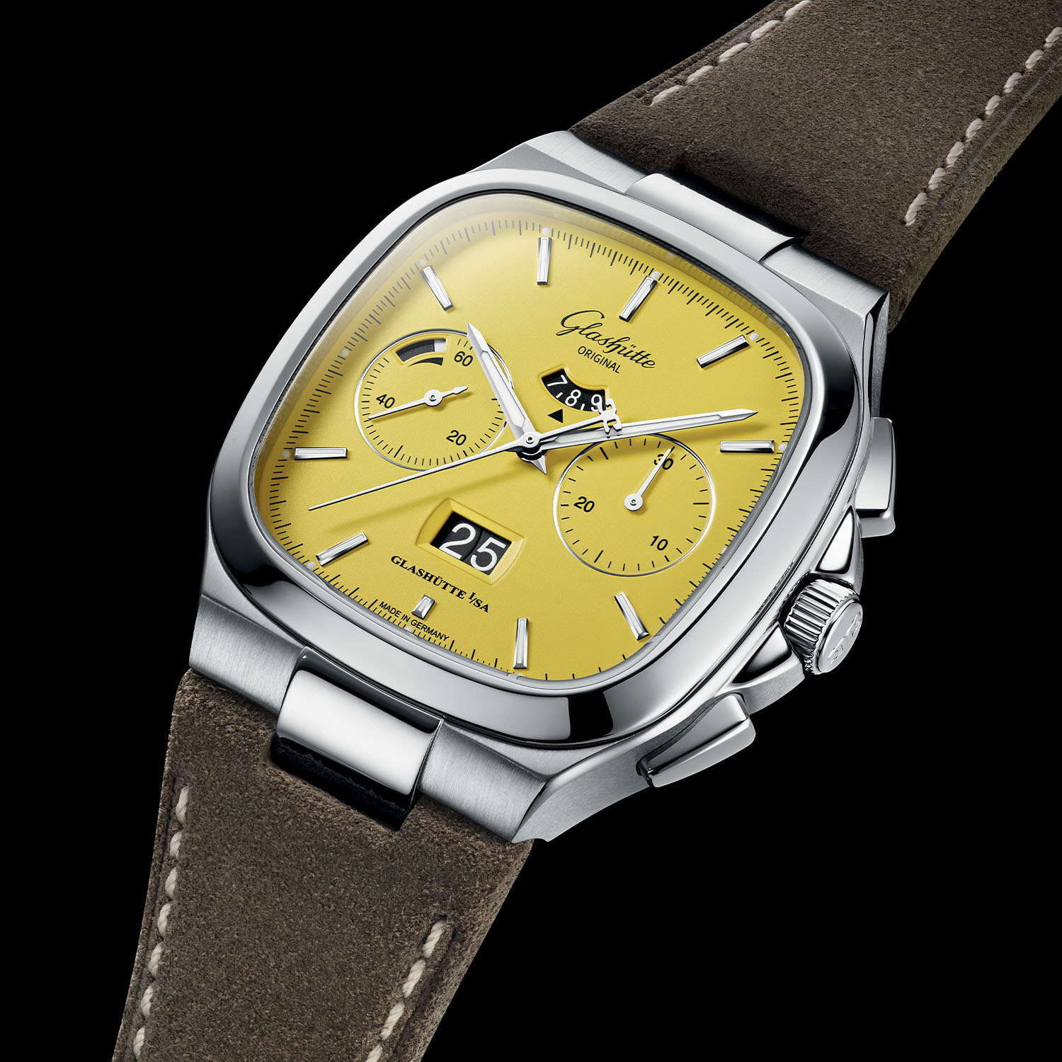 Glashutte Original Seventies Chronograph Panorama Date 2021 Limited Editions sunny yellow - 2