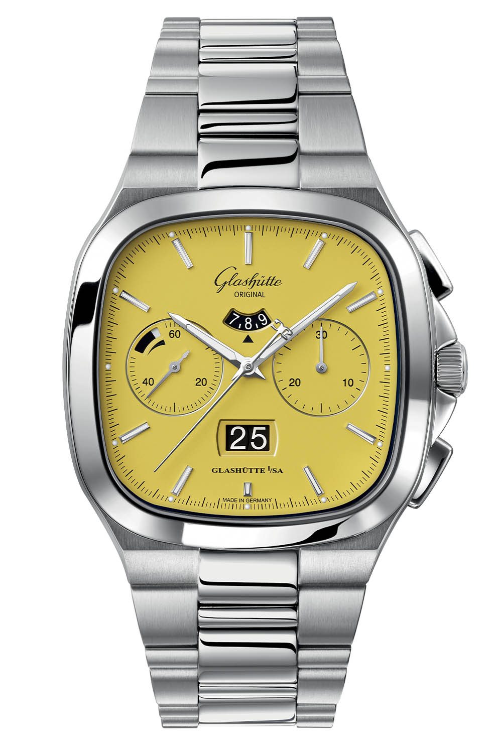Glashutte Original Seventies Chronograph Panorama Date 2021 Limited Editions sunny yellow - 4