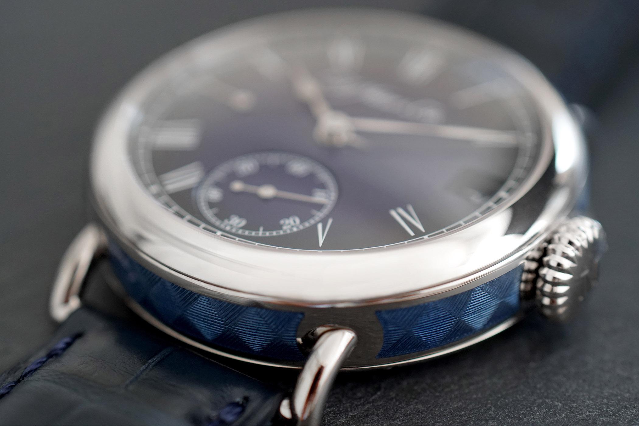 H Moser Cie Heritage Perpetual Calendar Midnight Blue Enamel 8800-0203