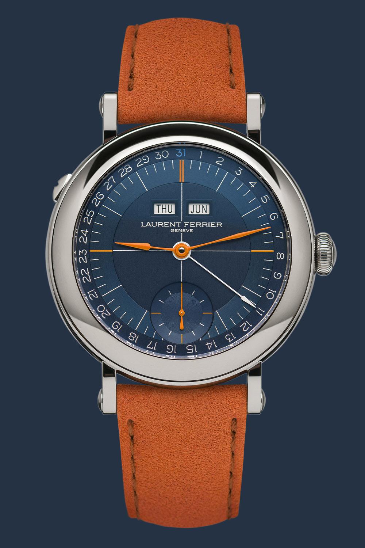 Laurent Ferrier Montre Ecole Annual Calendar Navy Orange Serie Aterlier II