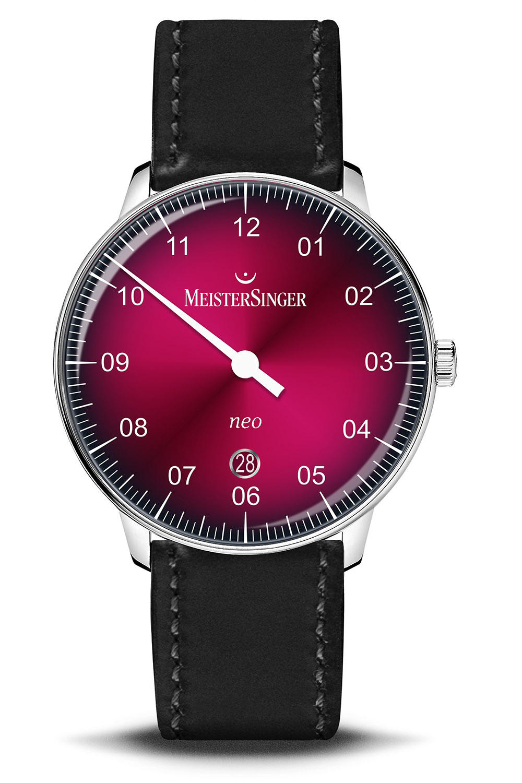 Meistersinger Neo 40 Bordeaux red gradient dial