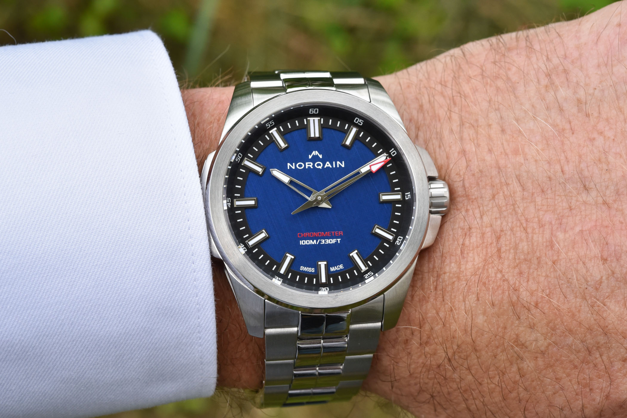 Norqain Independence 21 Scratched Blue Dial