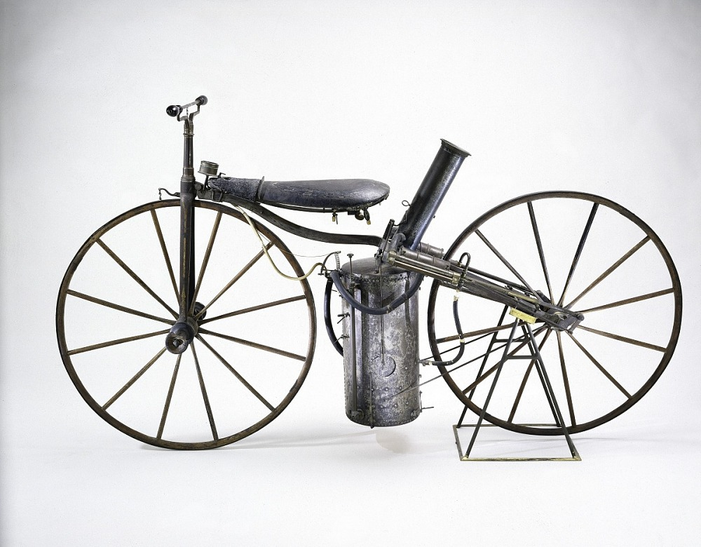 Roper's steam-powered Velocipede, 1869 - Source: National Museum of American History