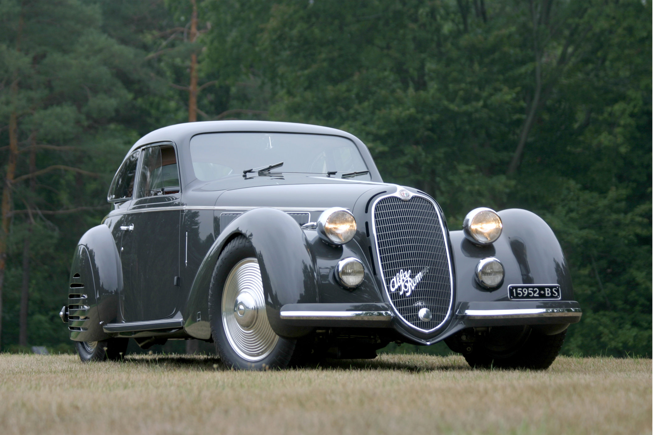 The 1938 Alfa Romeo 8C 2900 B, widely regarded as one of the most beautiful cars ever created