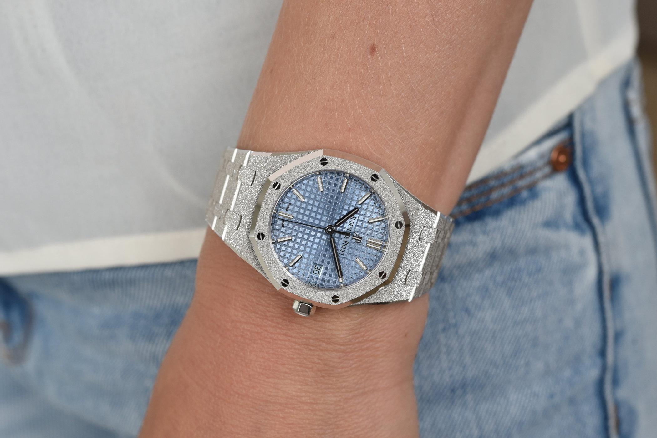 The Audemars Piguet Royal Oak Frosted Gold Selfwinding 34mm - Monochrome Watches