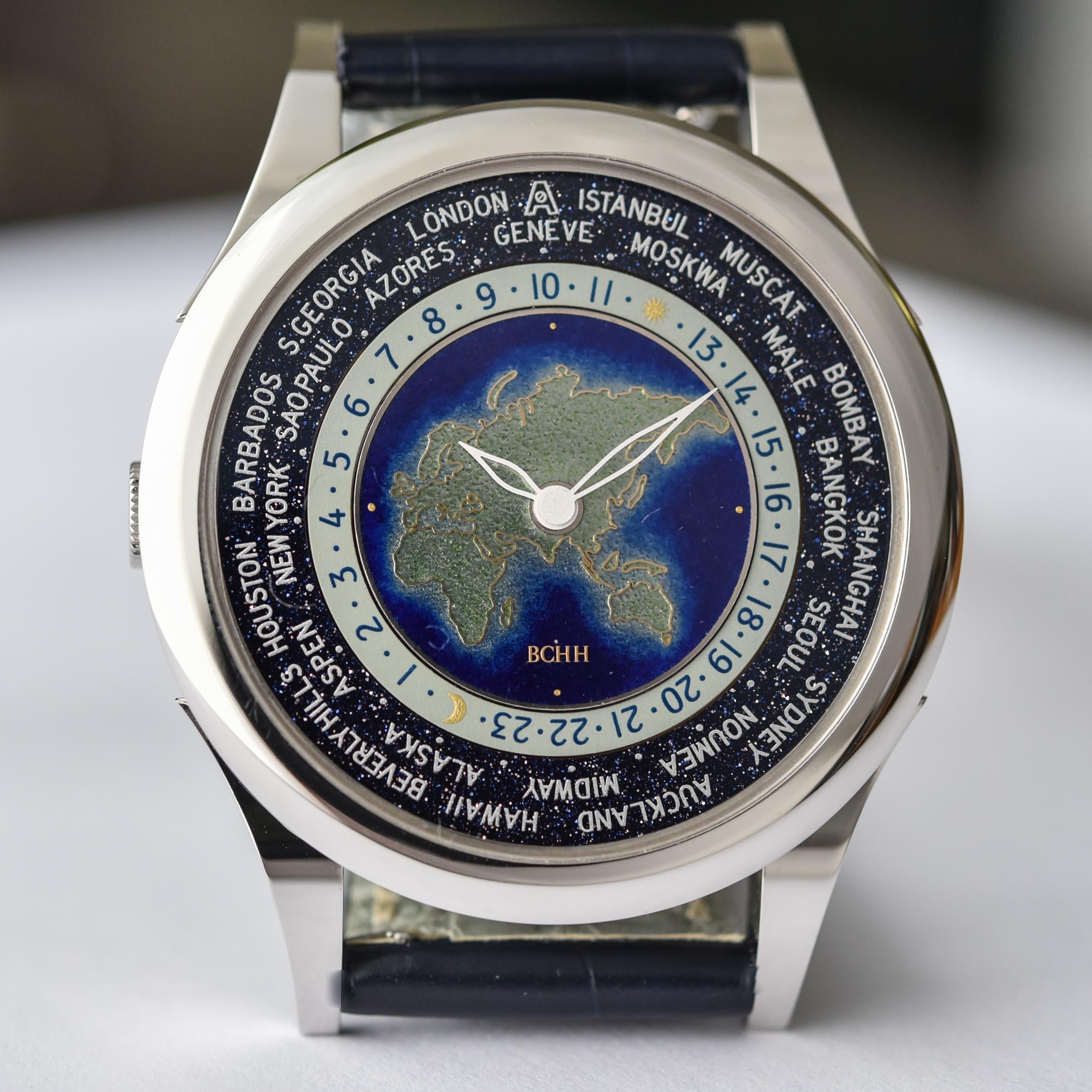 BCHH Celestial Voyager World Timer Cloisonne Enamel Andersen Geneve - 1