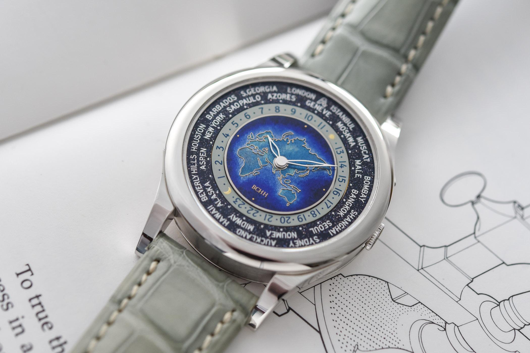 BCHH Celestial Voyager World Timer Cloisonne Enamel Andersen Geneve - 5