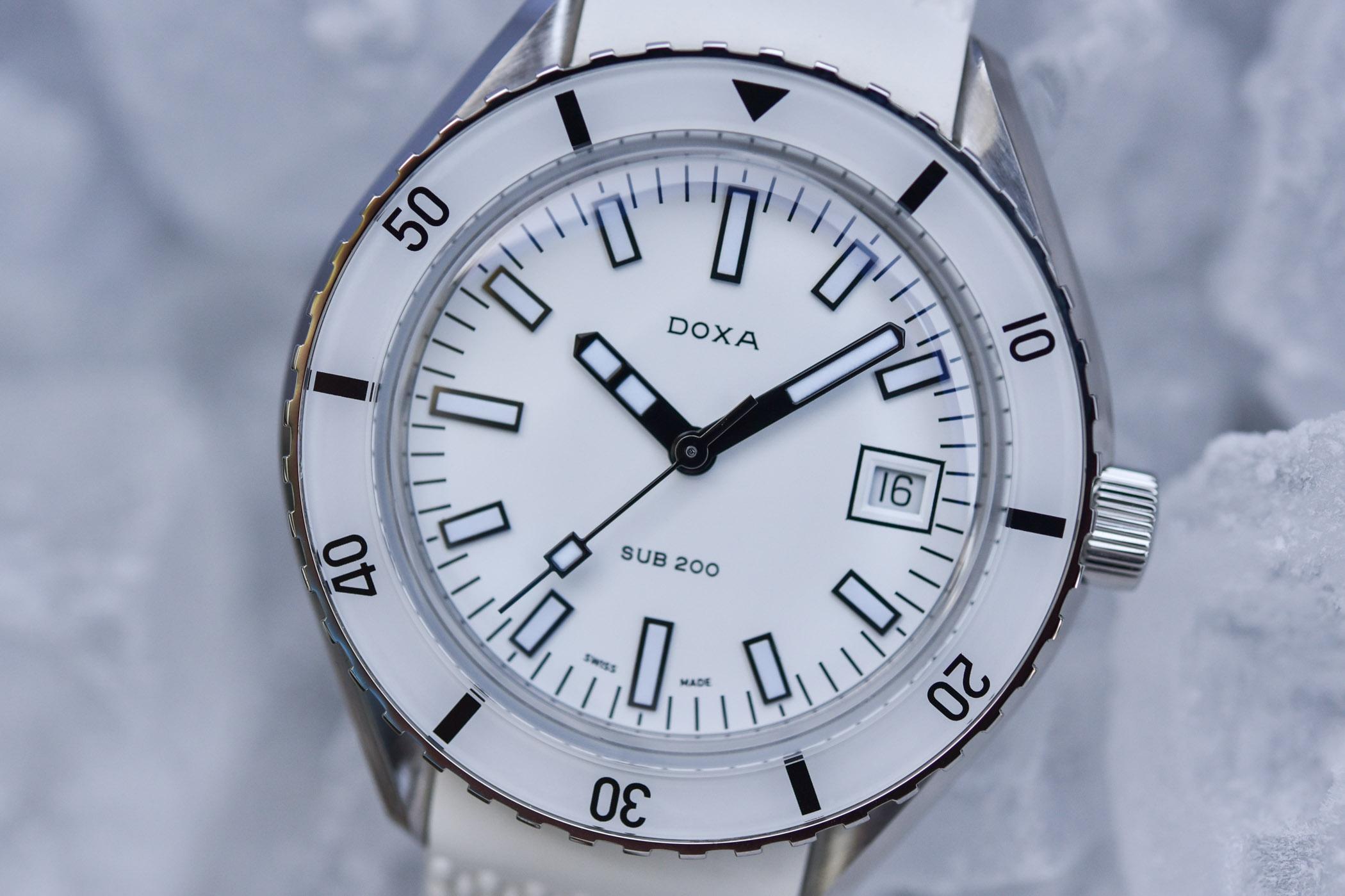 Doxa SUB 200 Whitepearl