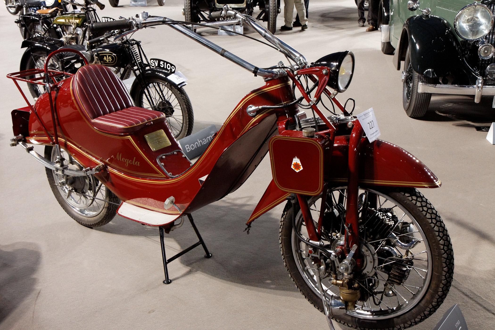 1922 Megola motorbike with front wheel mounted radial engine