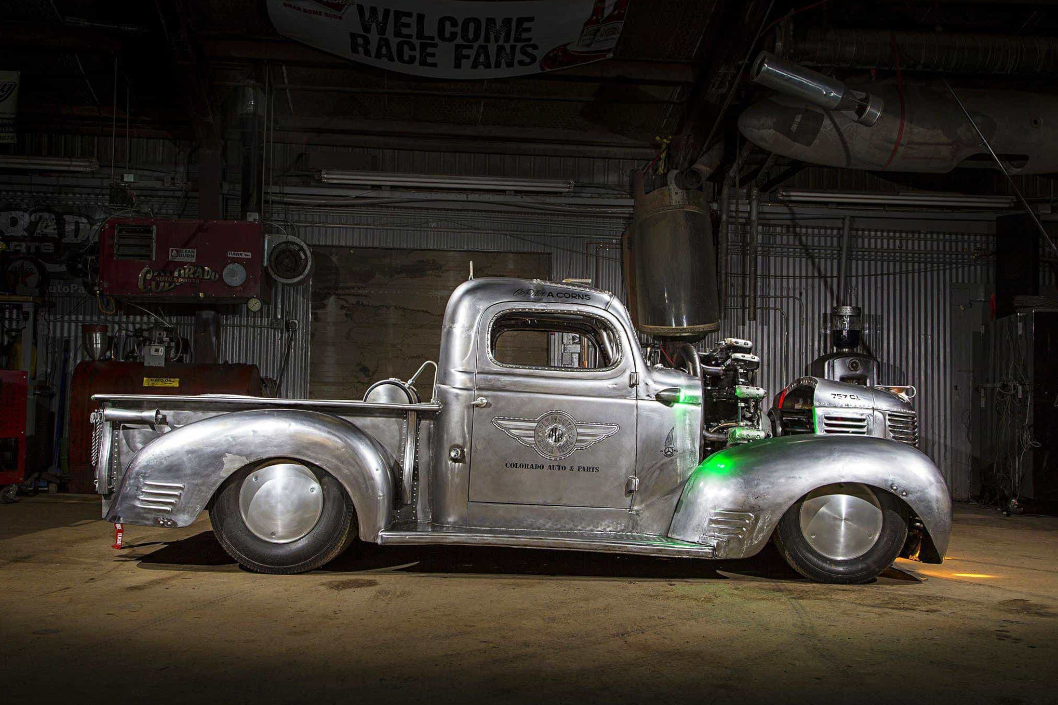 1939 Plymout pick-up with radial engine built by Gary Corns, Eric Corns and Adam Corns 4