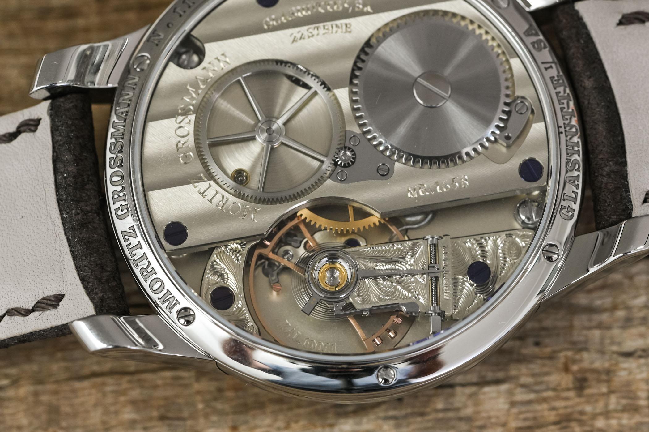 Moritz Grossmann Central Second stainless steel blue dial