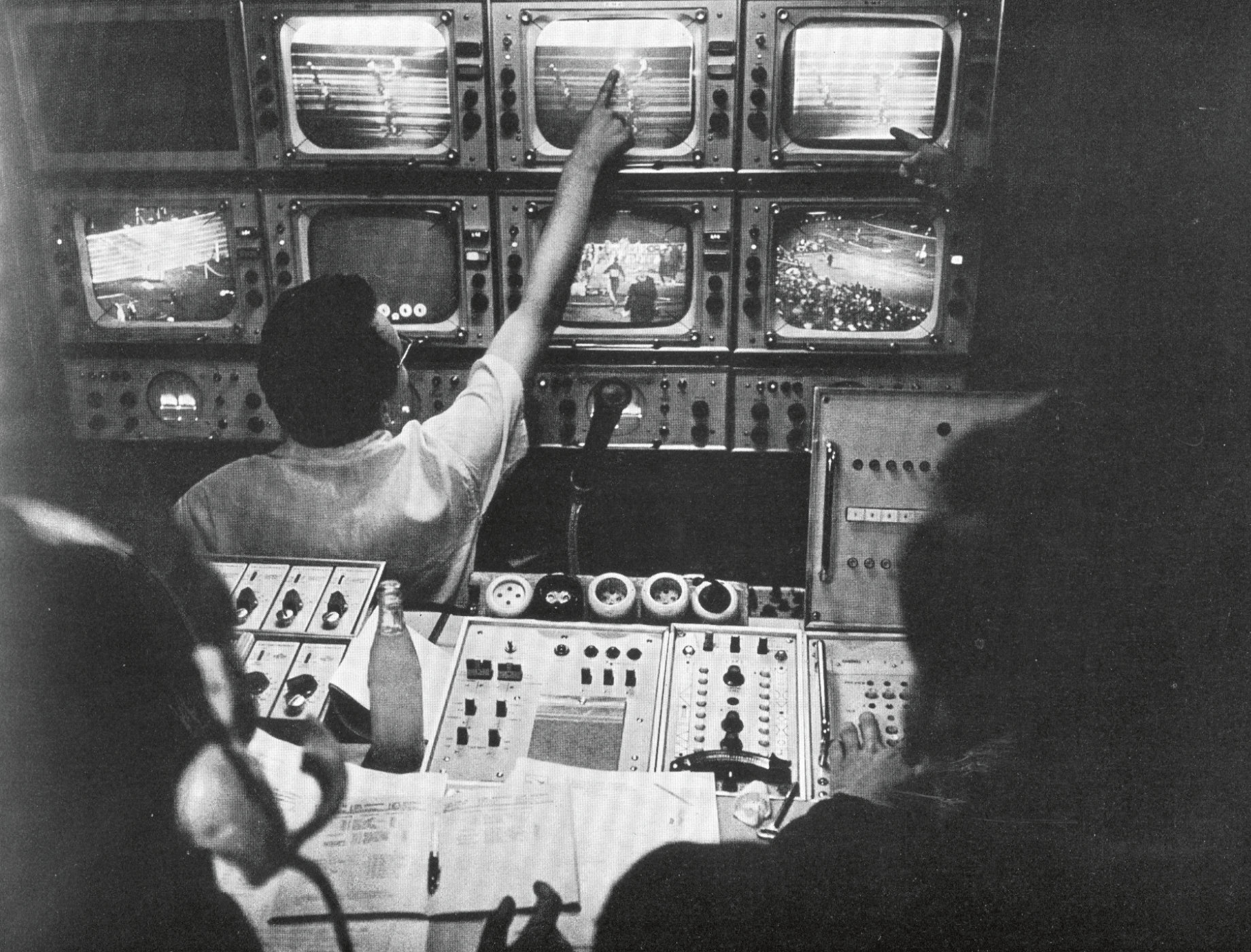 The Control Room during the 1964 Olympic Games in Innsbruck.