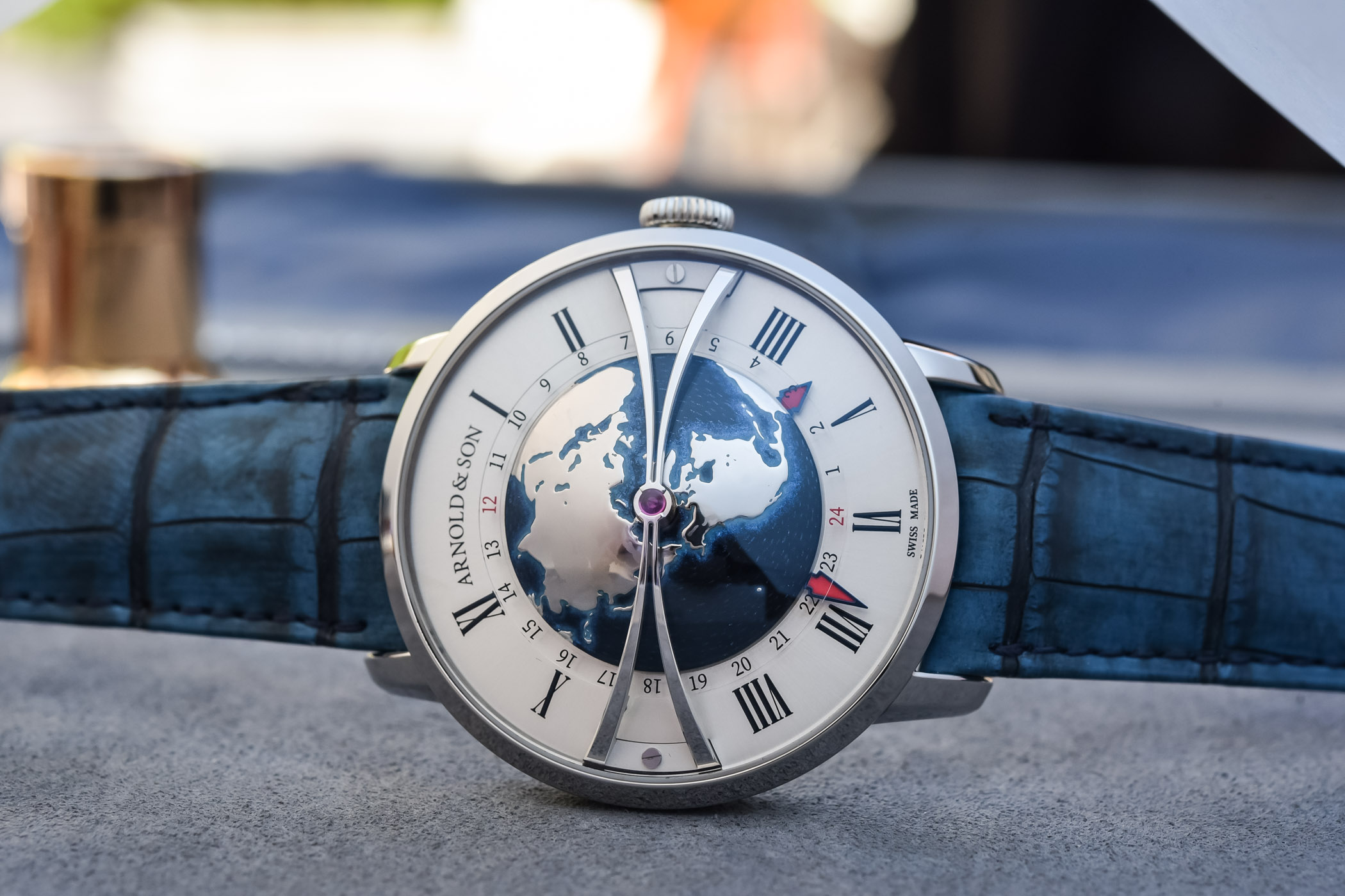 Arnold & Son Globetrotter in Stainless Steel