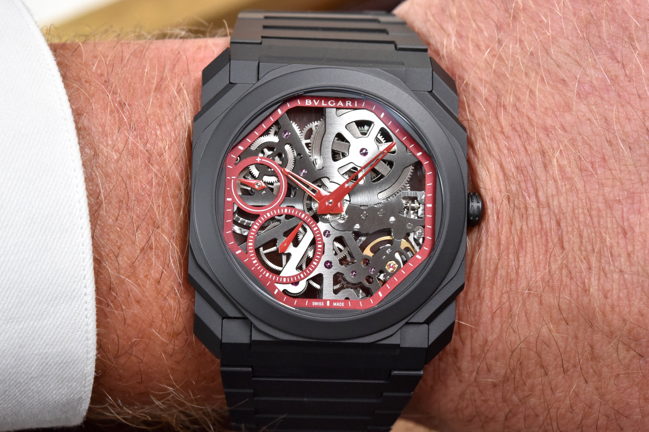 Bvlgari Octo Finissimo Skeleton Red Limited Edition Review 4