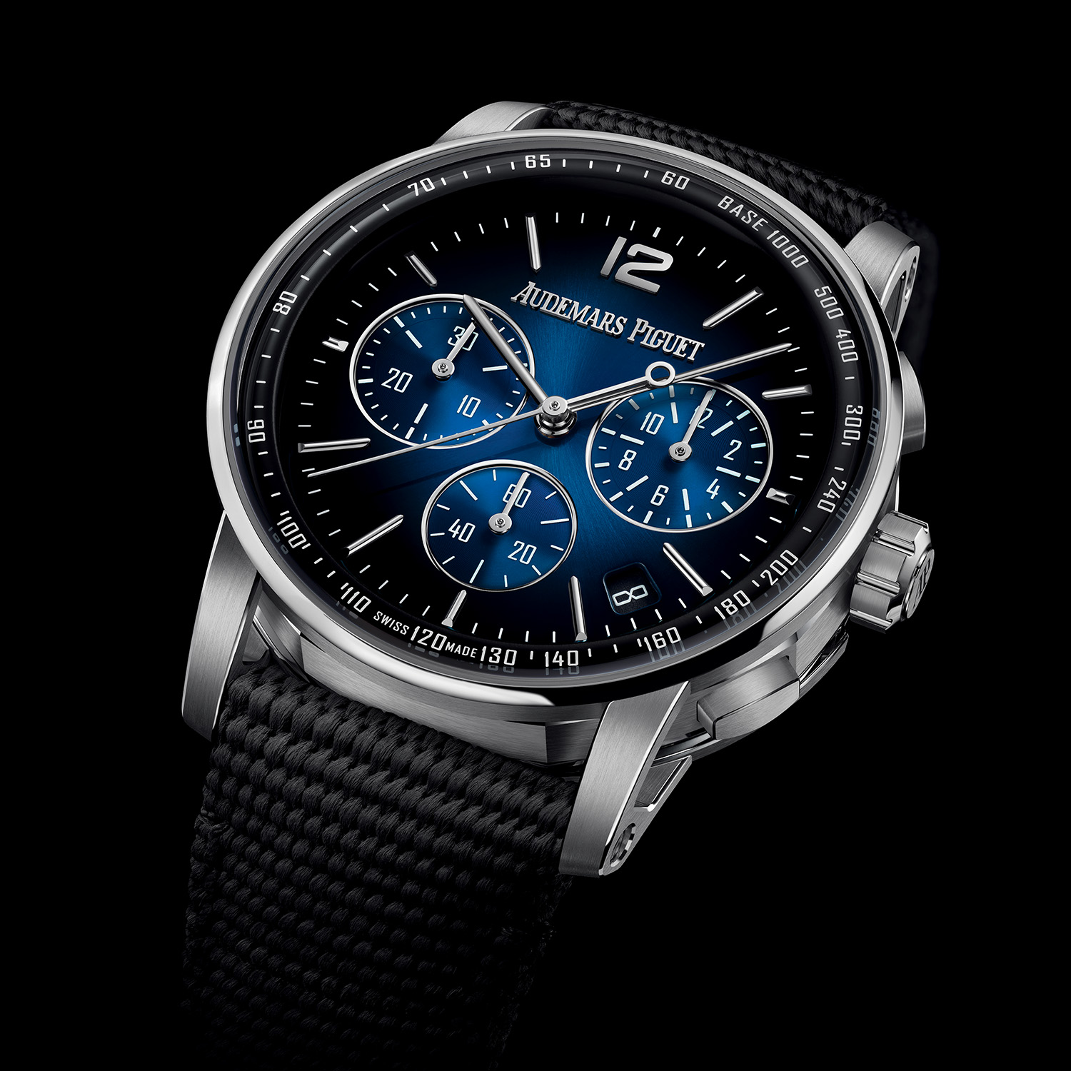 Code 11.59 by Audemars Piguet Selfwinding Chronograph White Gold Smoked Blue Dial 26393BC.OO.A002KB.01