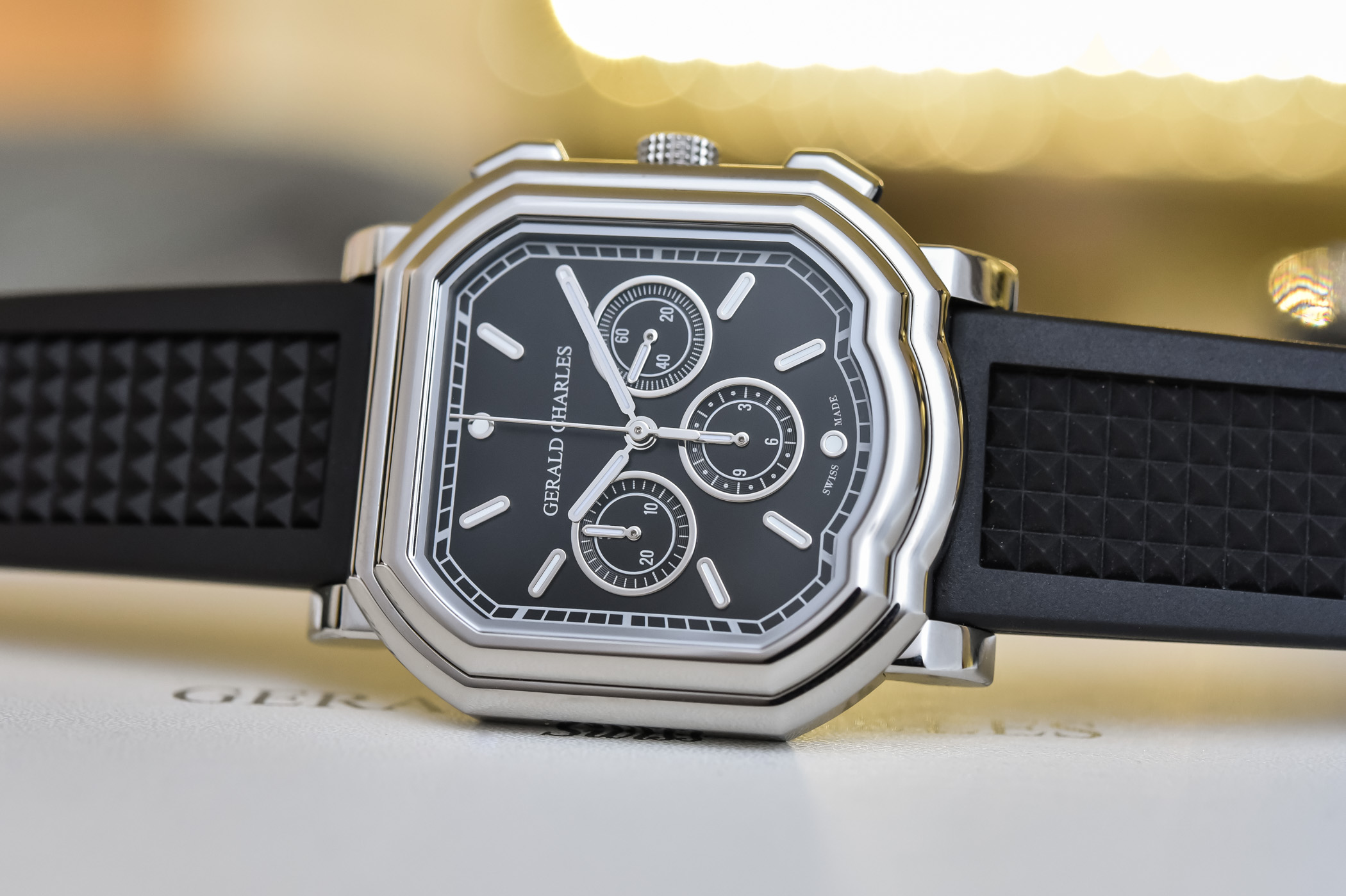 Gerald Charles Maestro GC3.0-A Chronograph stainless steel black dial