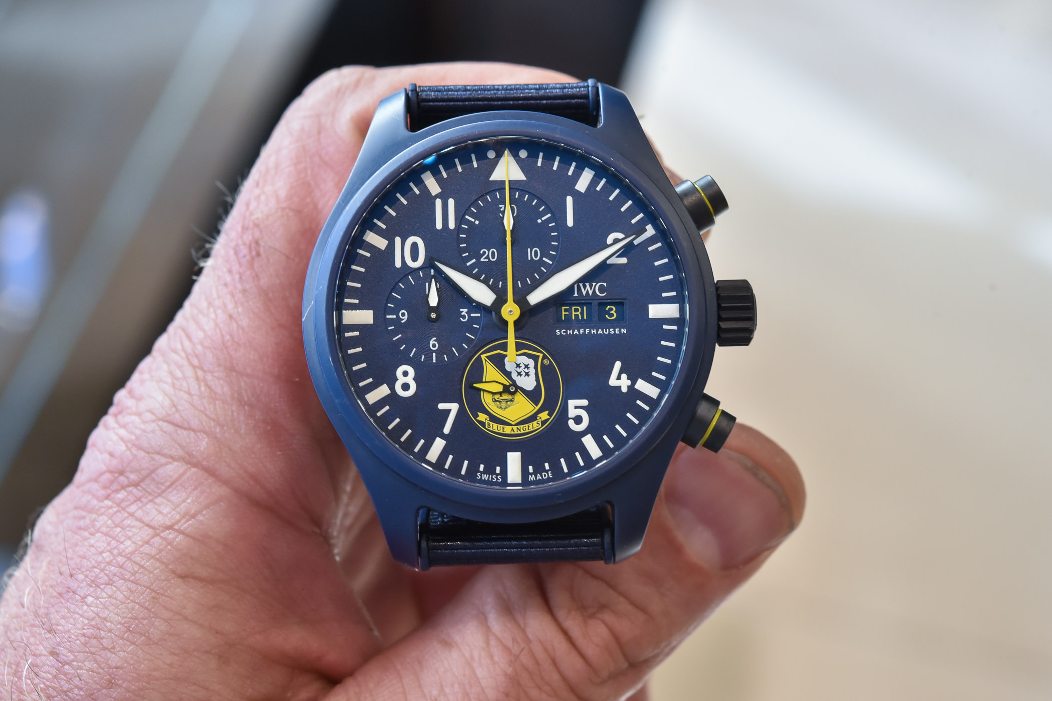 IWC Pilot's Watch Chronograph US Navy Squadrons Editions Blue Angles IW389109