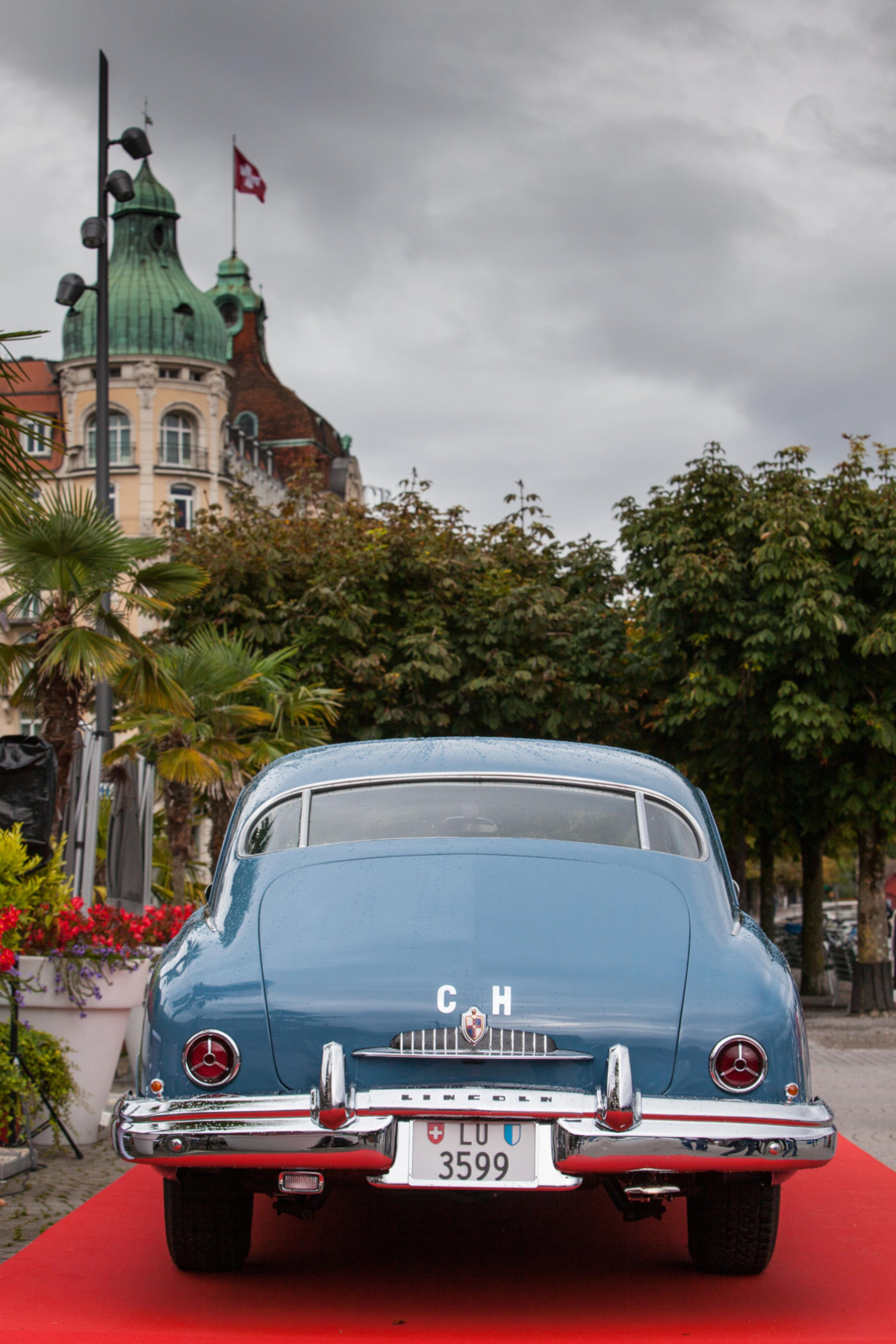 Jörg G. Bucherer's restored 1949 Lincoln Cosmopolitan Town Sedan once owned by his father 2