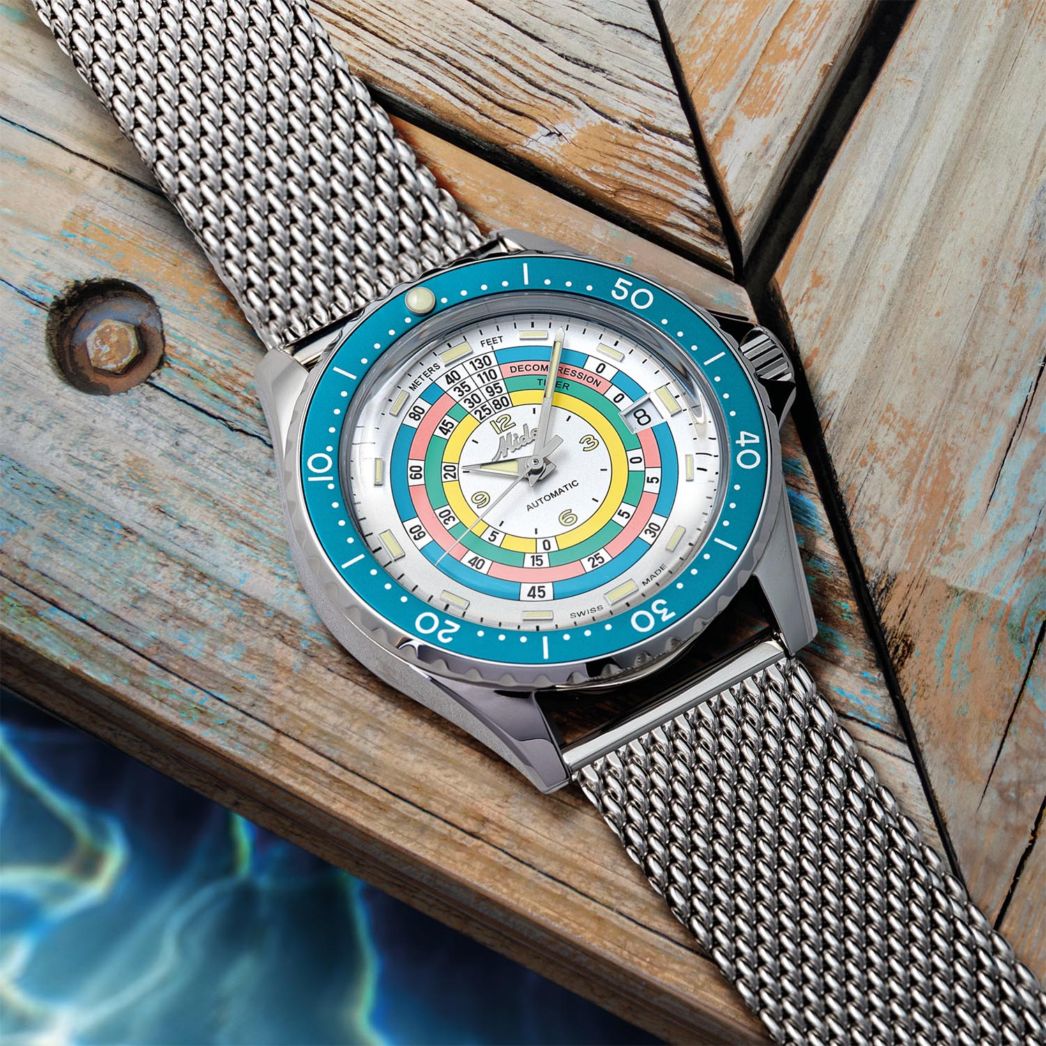 Mido Ocean Star Decompression Timer 1961 Turquoise Limited Edition - M026.807.11.031.00