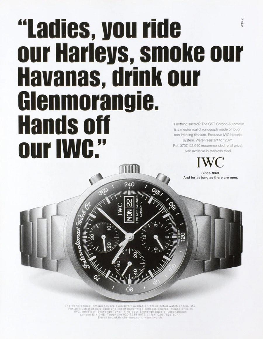 Retrospective Gunter Blumlein - IWC restructuration - IWC Adverts - 1