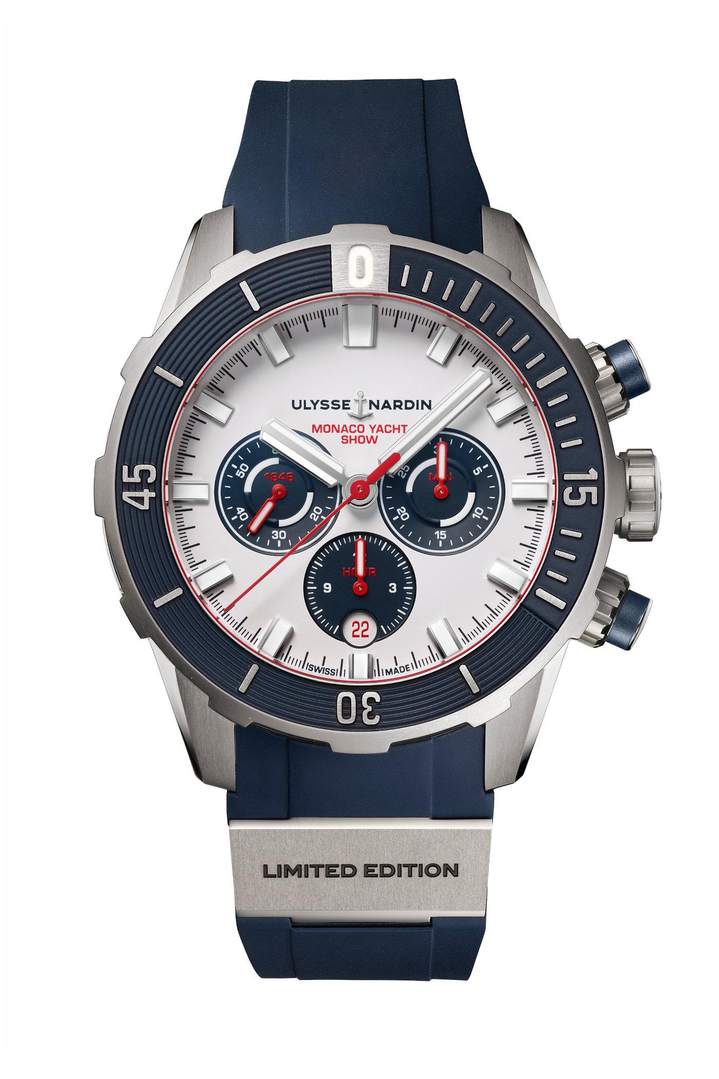 Ulysse Nardin Diver Chronograph Monaco Yacht Show Limited Edition 2021 2