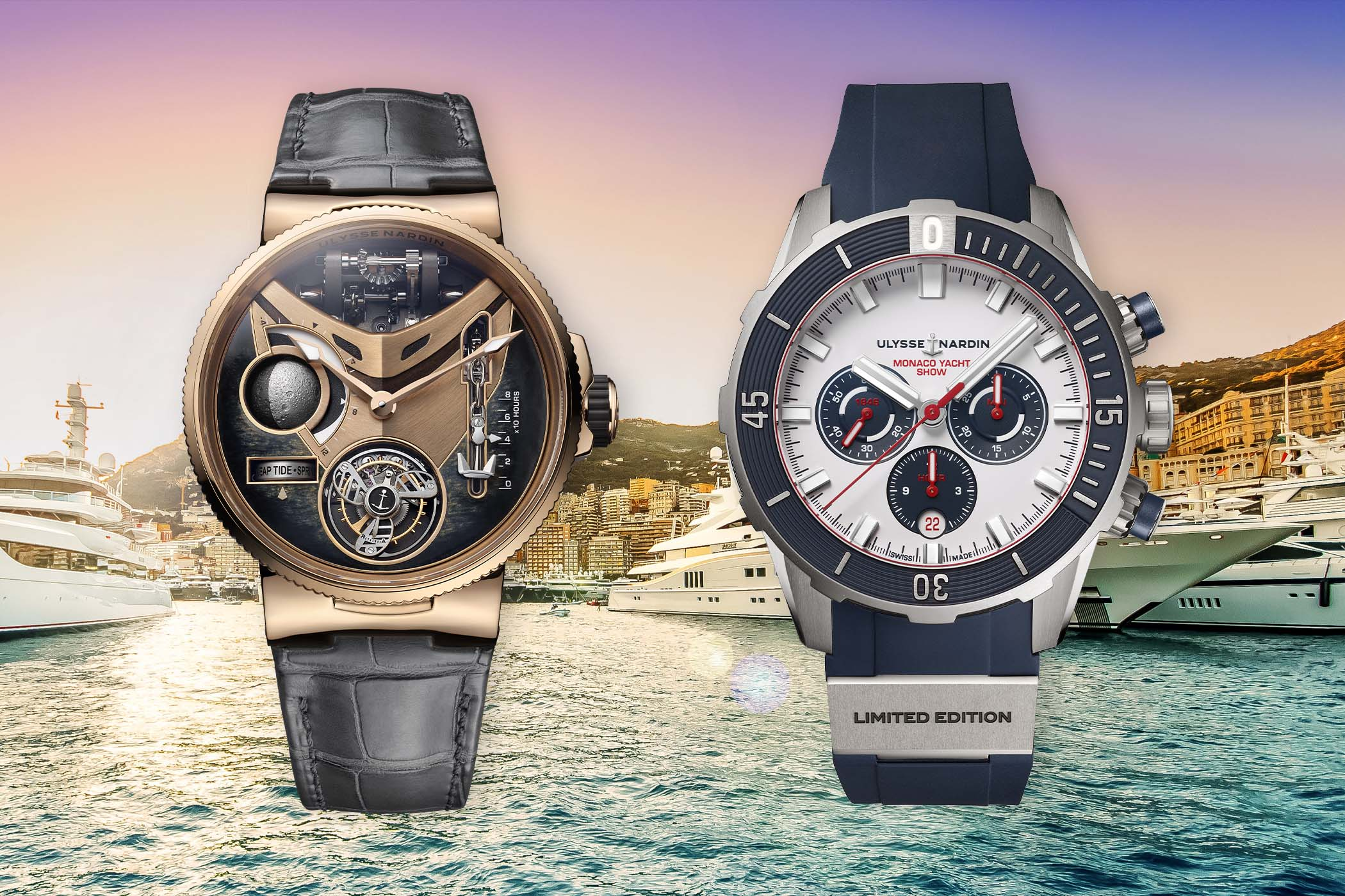 Ulysse Nardin presenting two limited editions for the Monaco Yacht Show