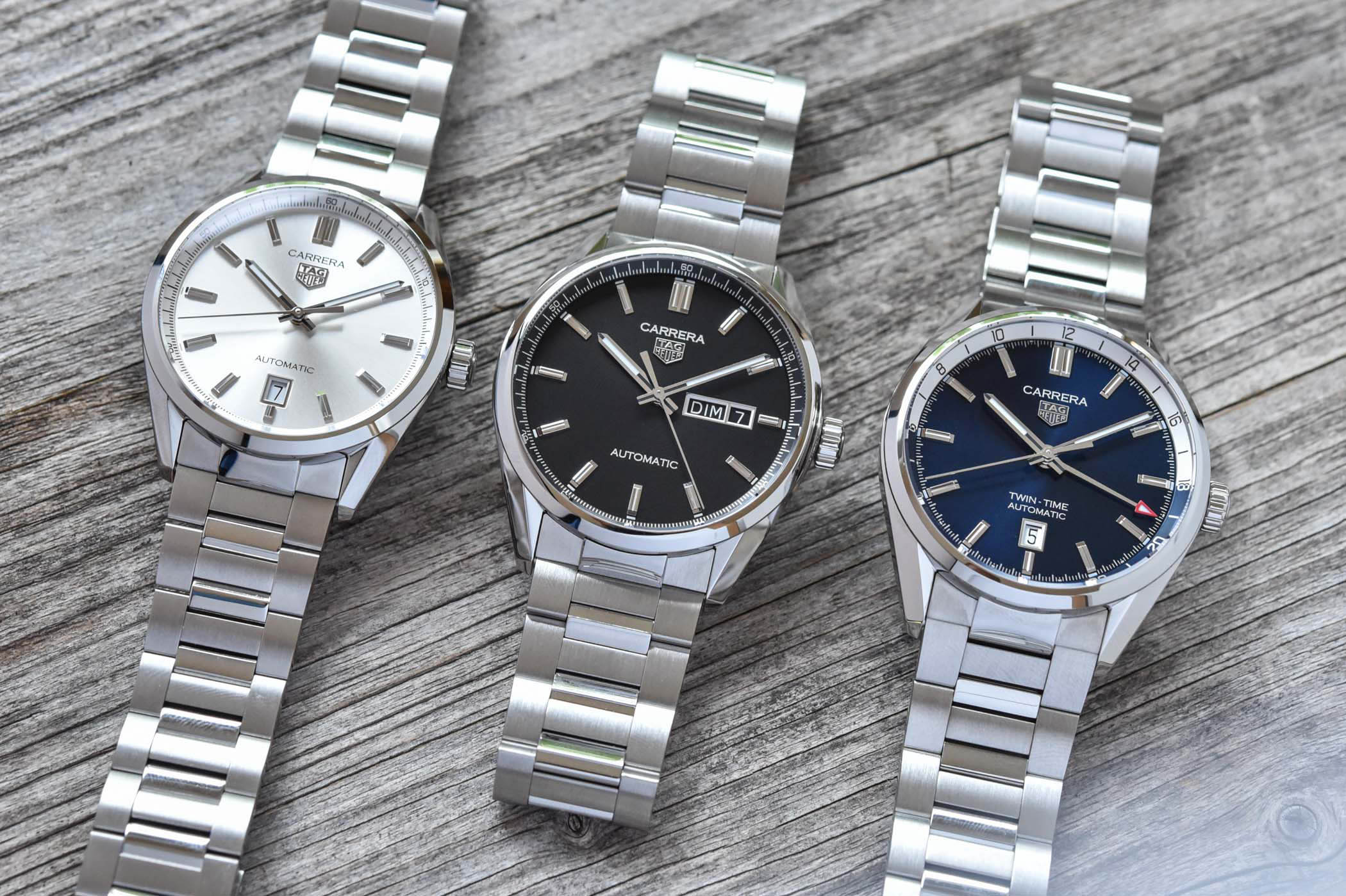 2021 TAG Heuer Carrera 3 Hands Collection