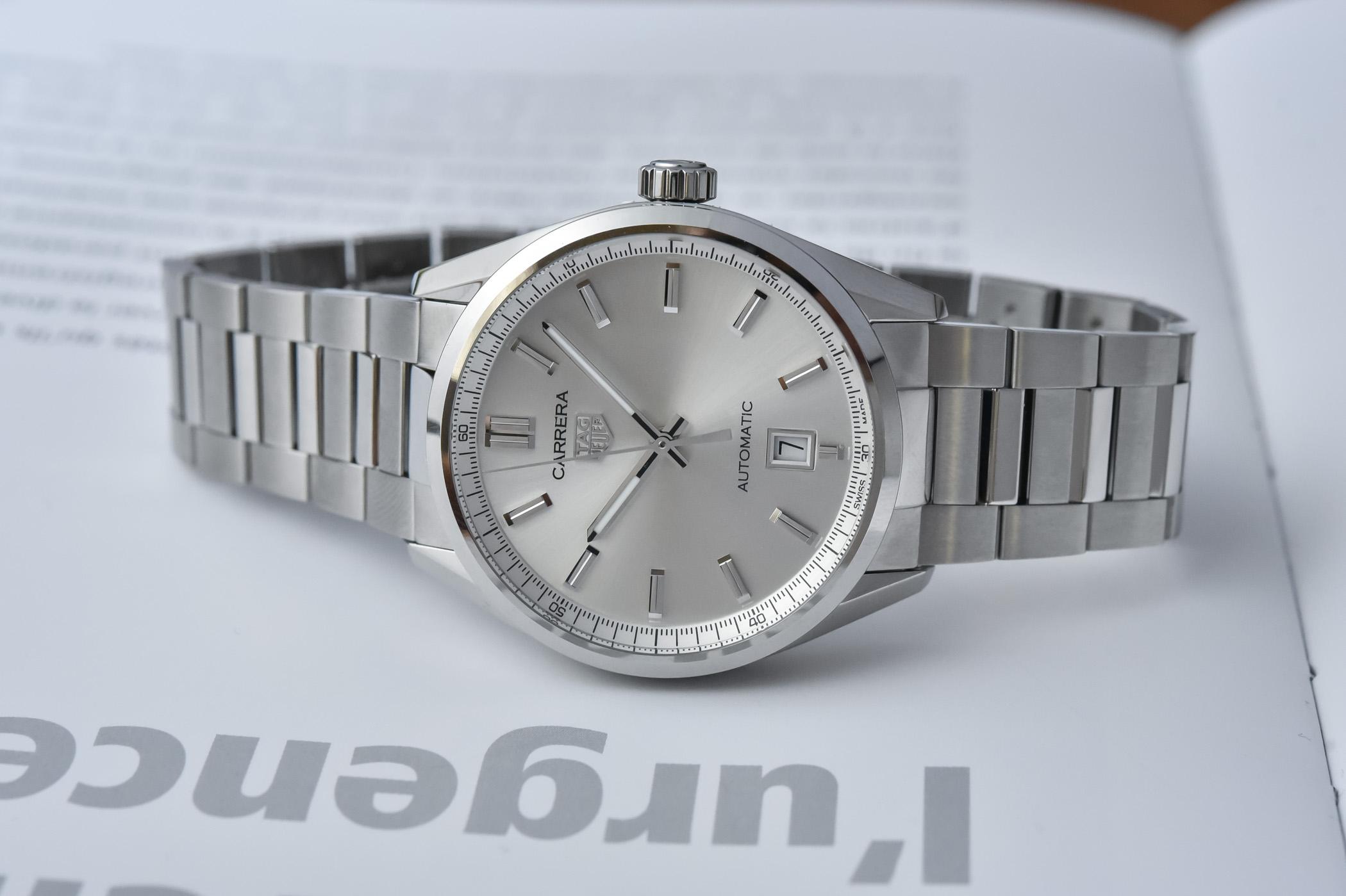 2021 TAG Heuer Carrera Date 39mm Silver Dial WBN2111.BA0639 Calibre 5