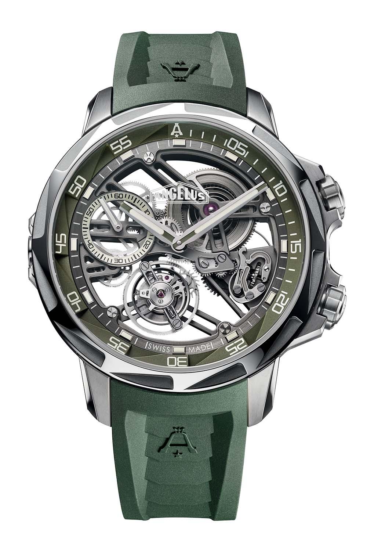 Angelus U53 Tourbillon Dive Watch Khaki Green