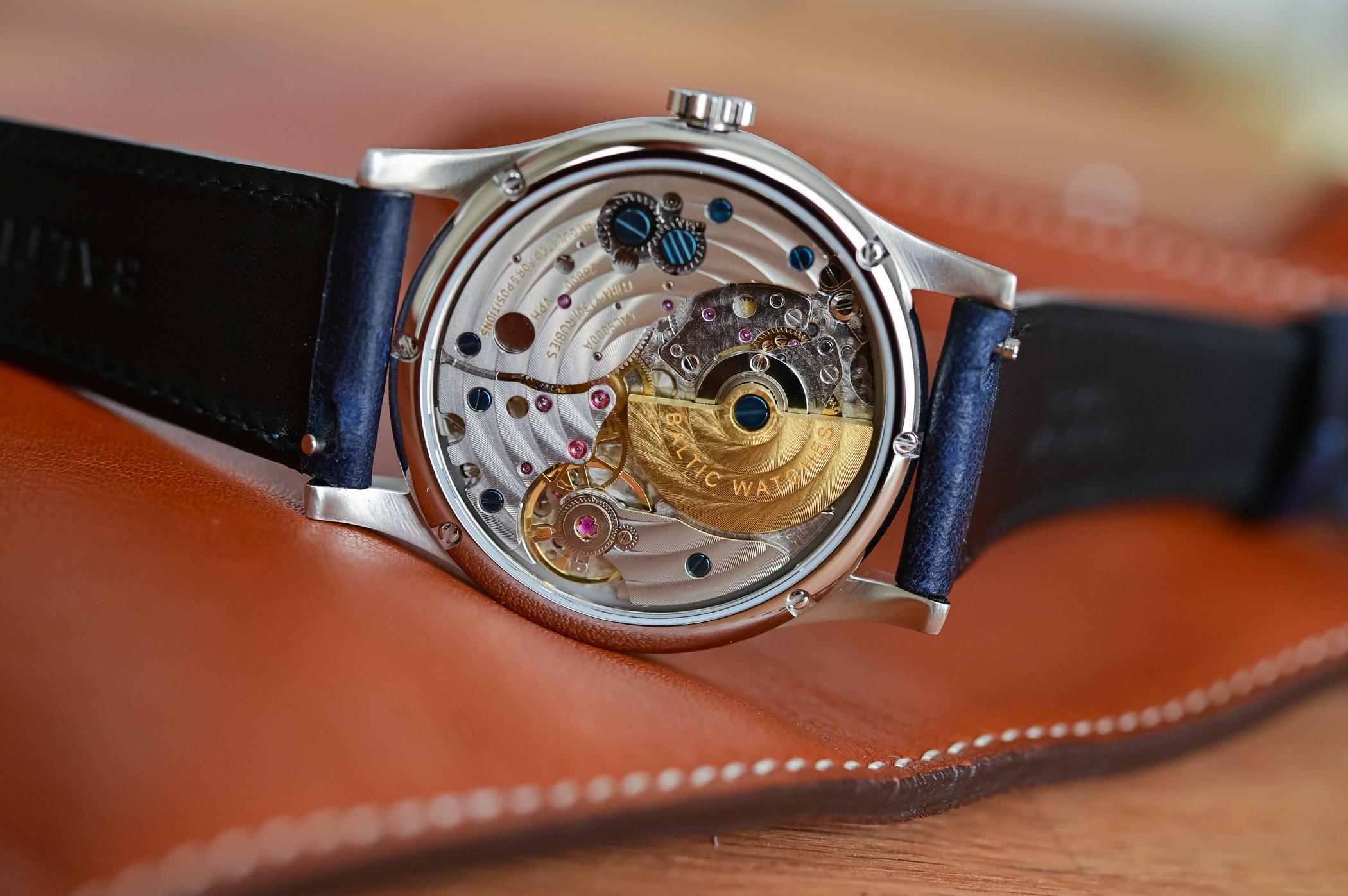 Baltic MR01 Salmon Accessible Calatrava-style Micro Rotor Watch