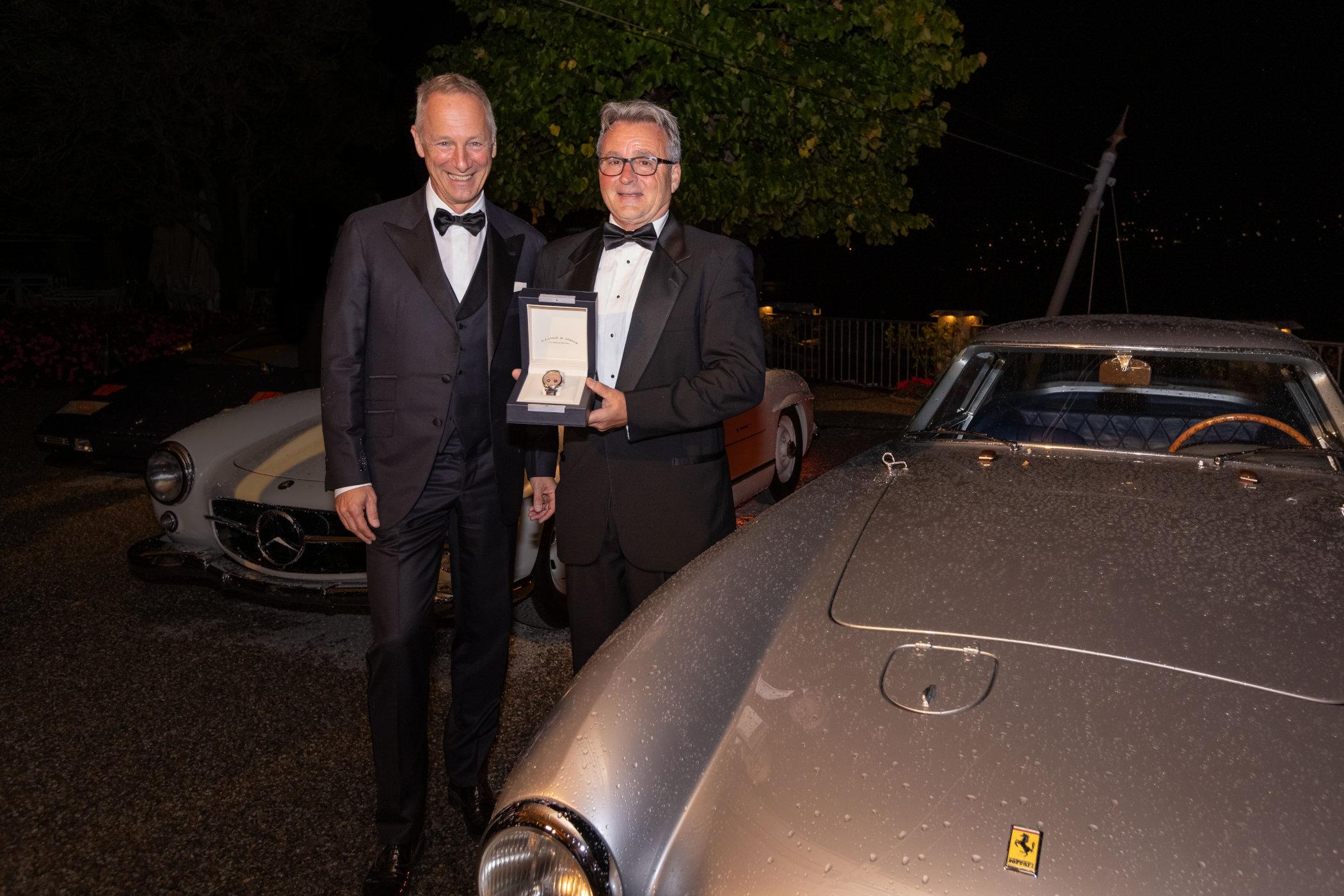 Concorso d'Eleganza Villa d'Este 2021 A. Lange & Söhne Brian Ross Best of Show winner and CEO Wilhelm Schmid 2