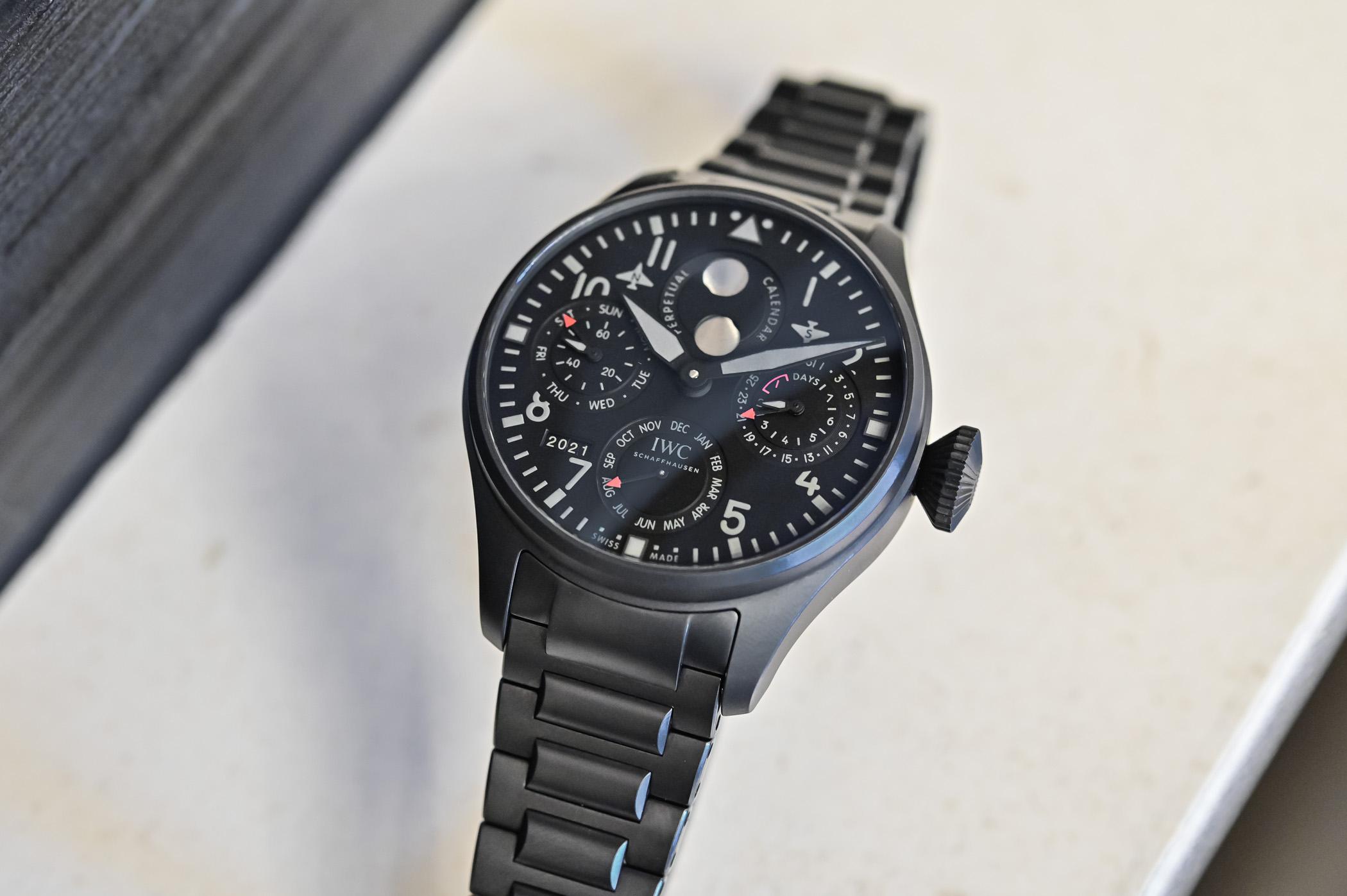 IWC Big Pilot's Watch Perpetual Calendar TOP GUN Ceratanium IW503604