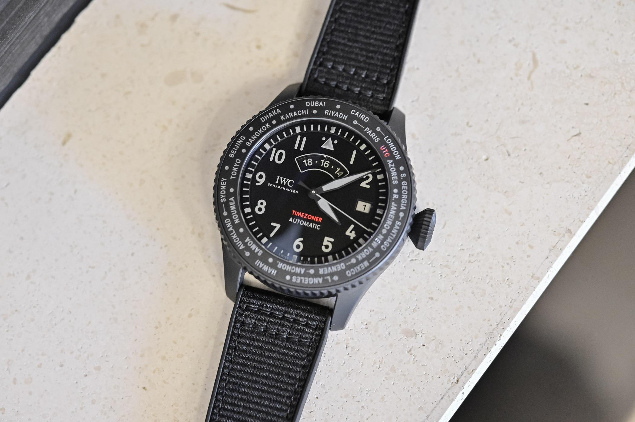 IWC Pilot's Watch Timezoner TOP GUN Ceratanium IW395505