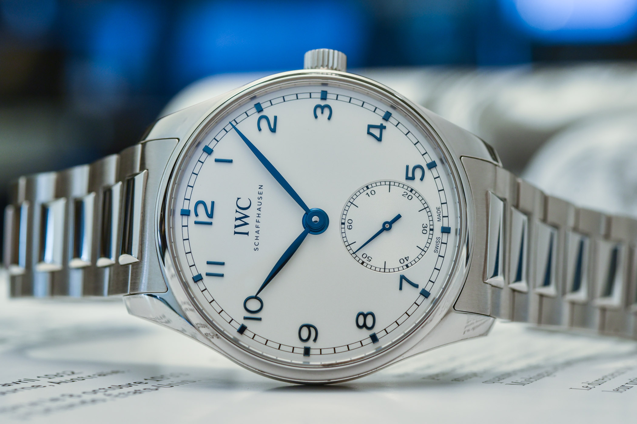 IWC Portugieser Automatic 40 now on Stainless Steel bracelet IW358312 hands on 9
