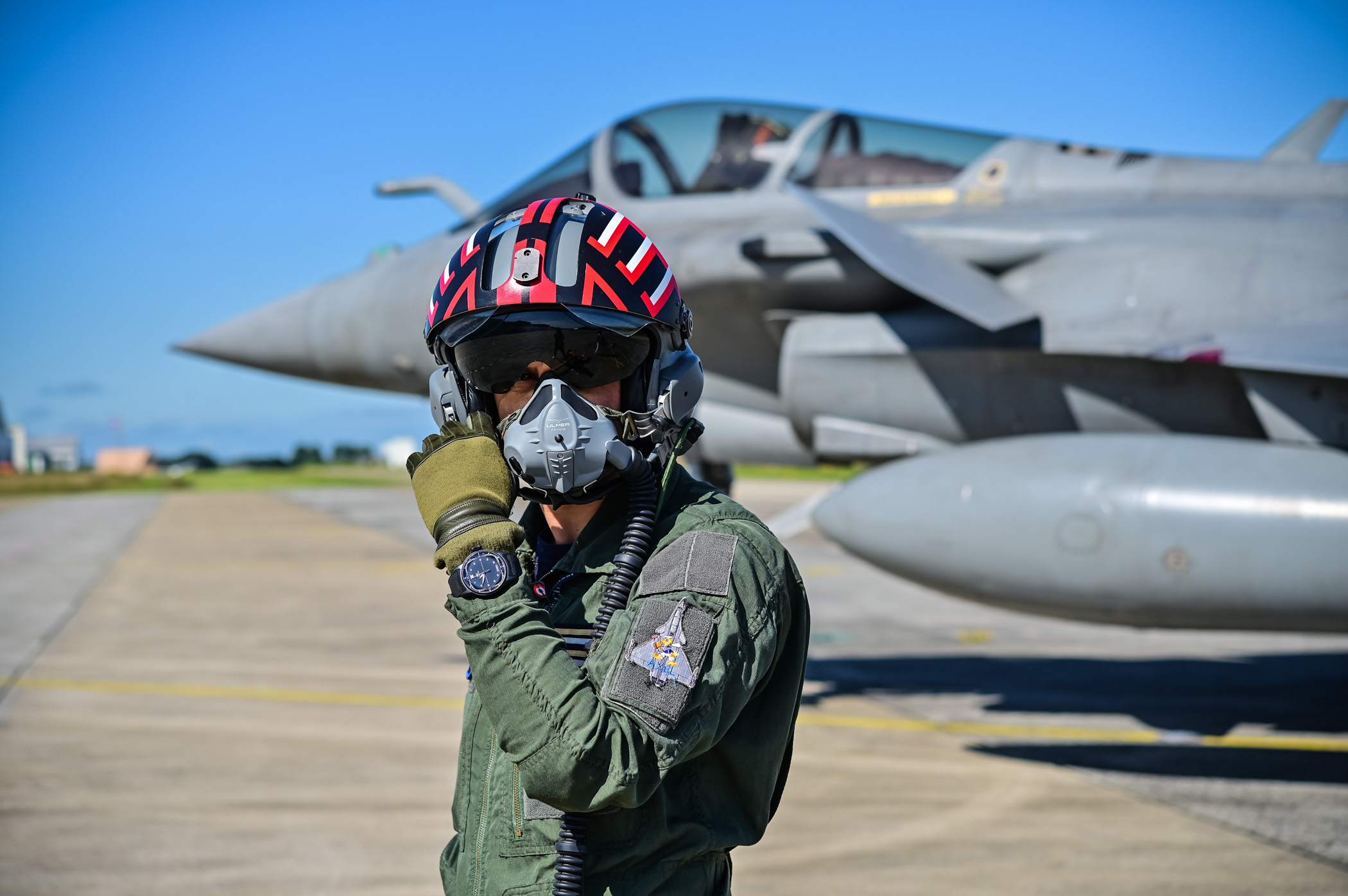 Rafale Pilot Etienne Bauer Testing IWC Big Pilot Shock Absorber XPL