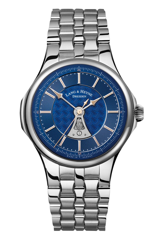 Lang and Heyne Hektor Sports Watch integrated bracelet Blue Dial