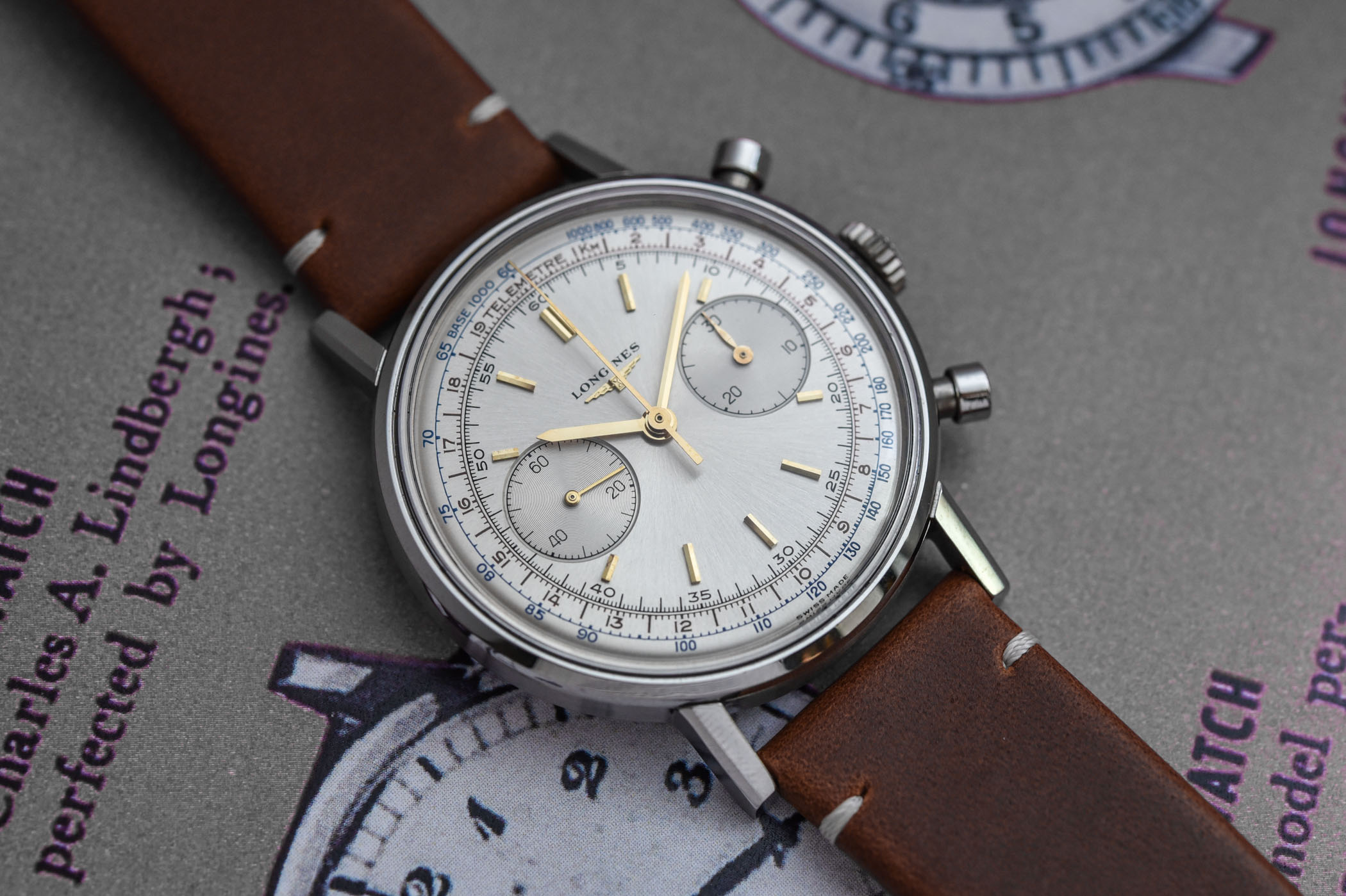 Longines Flyback Chronograph 30CH (1965) Reference 7413