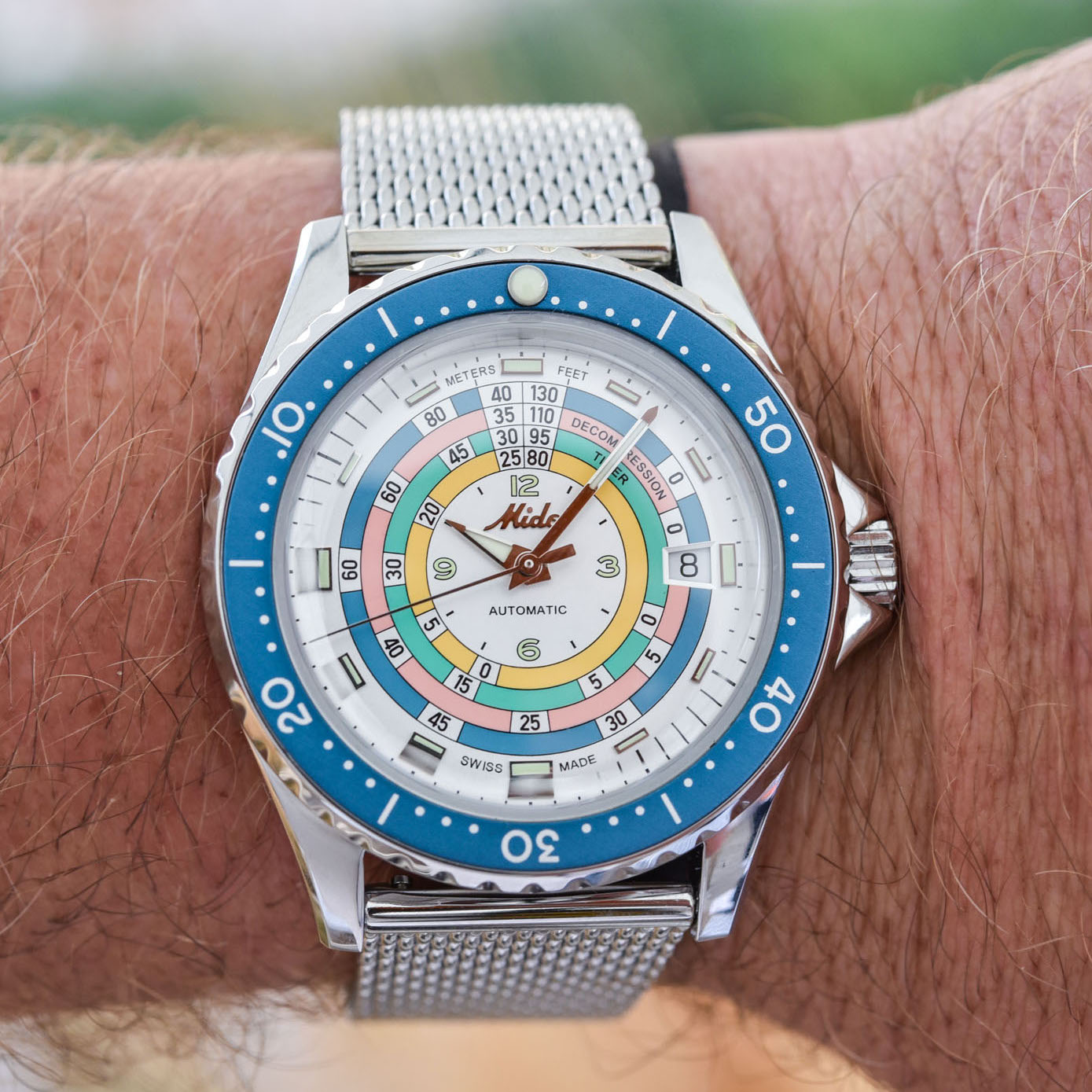 Mido Ocean Star Decompression Timer 1961 Turquoise - M026.807.11.031.00 - hands-on review - 11